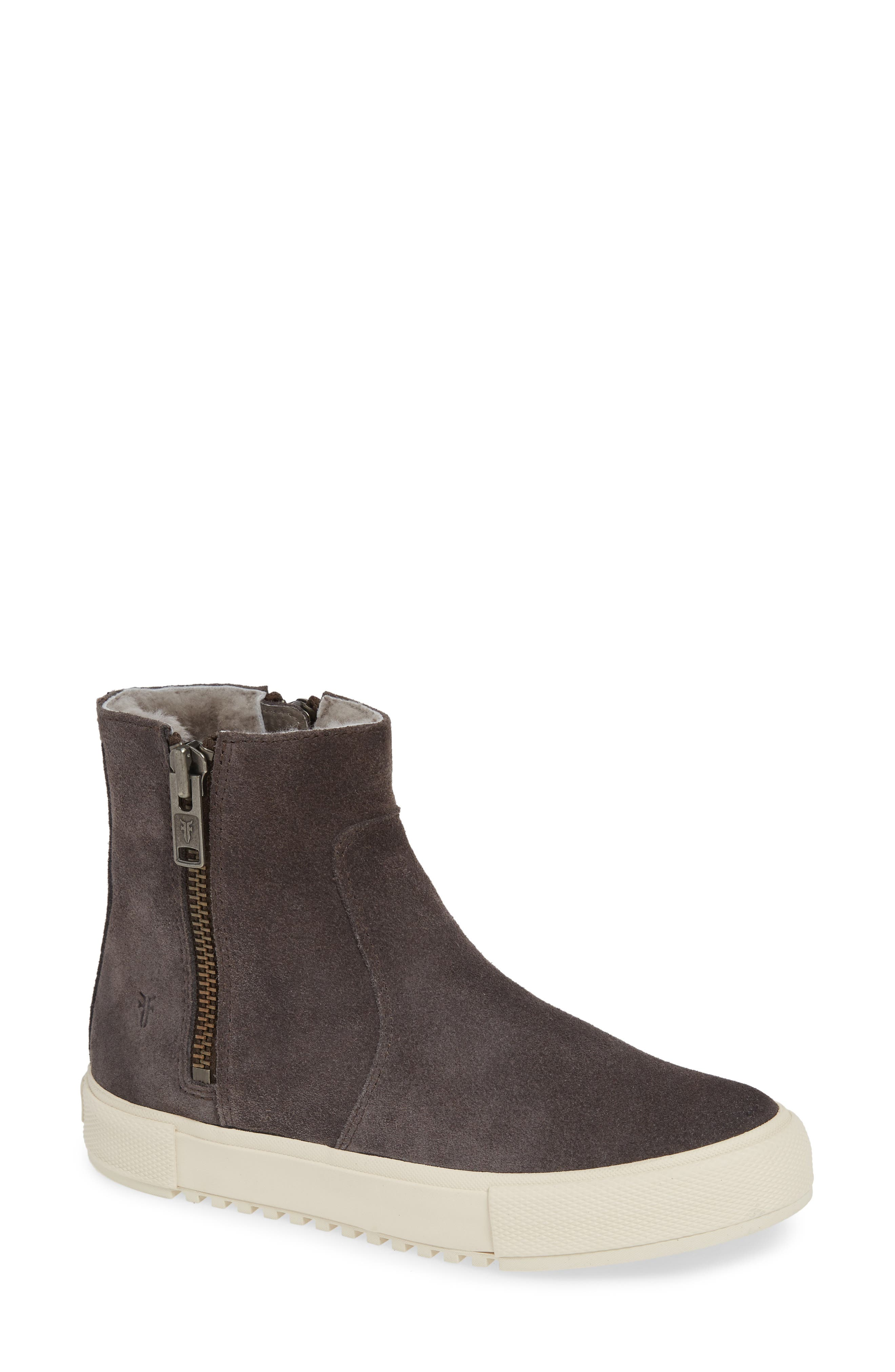 Frye Gia Genuine Shearling Lined Bootie, Grey