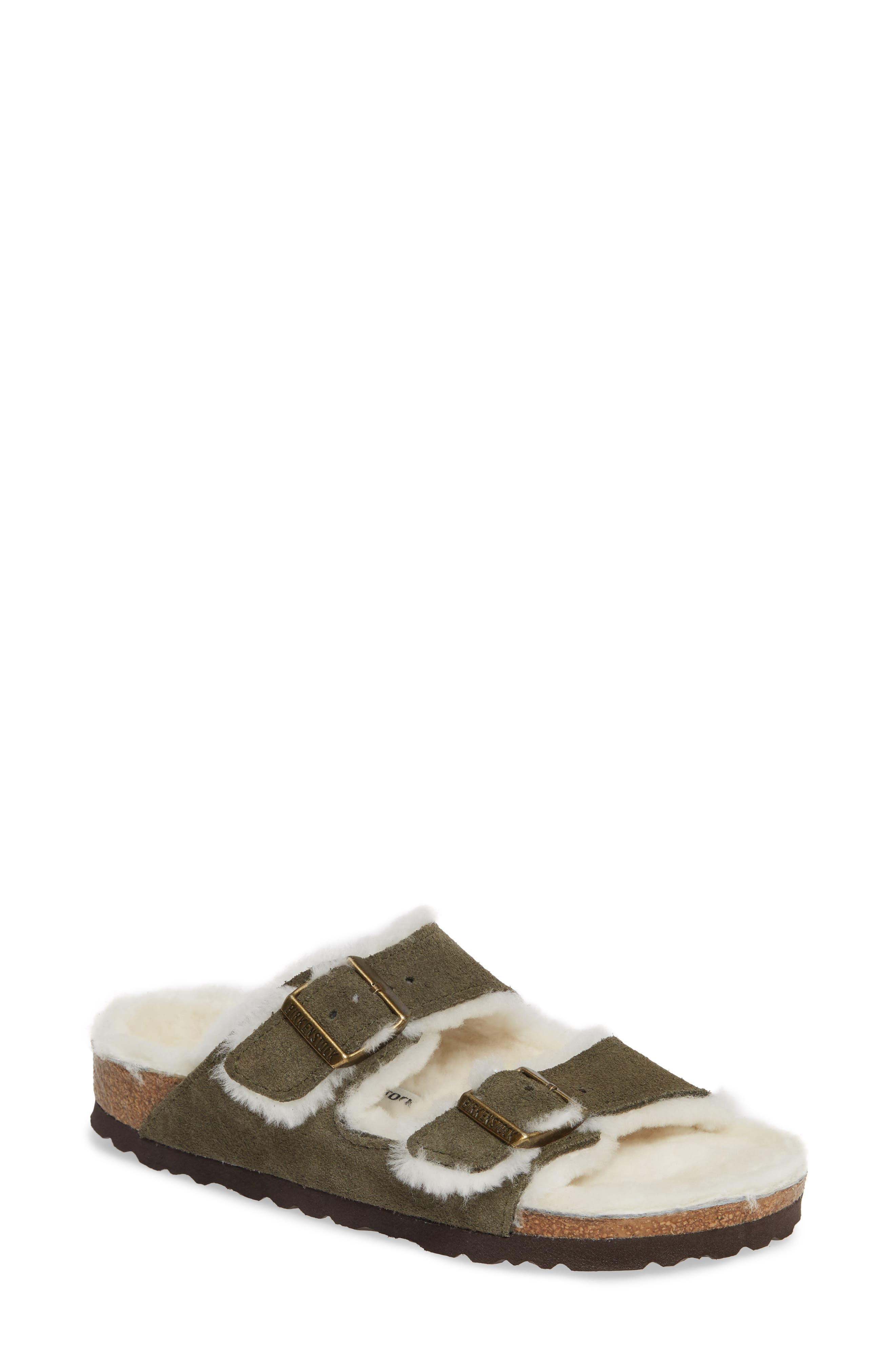 'Arizona' Genuine Shearling Lined Sandal,                         Main,                         color, 300