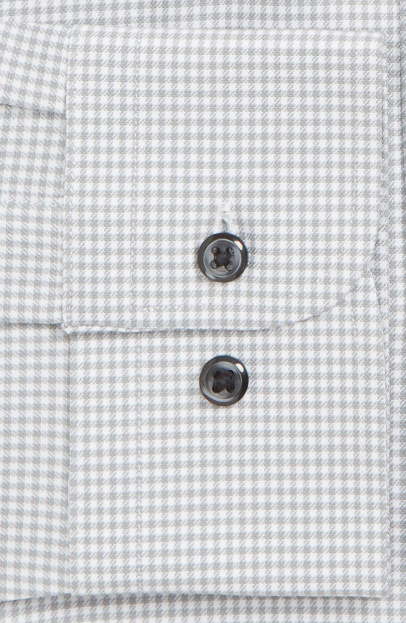 Tech-Smart Extra Trim Fit Stretch Check Dress Shirt,                             Alternate thumbnail 2, color,                             GREY SLEET