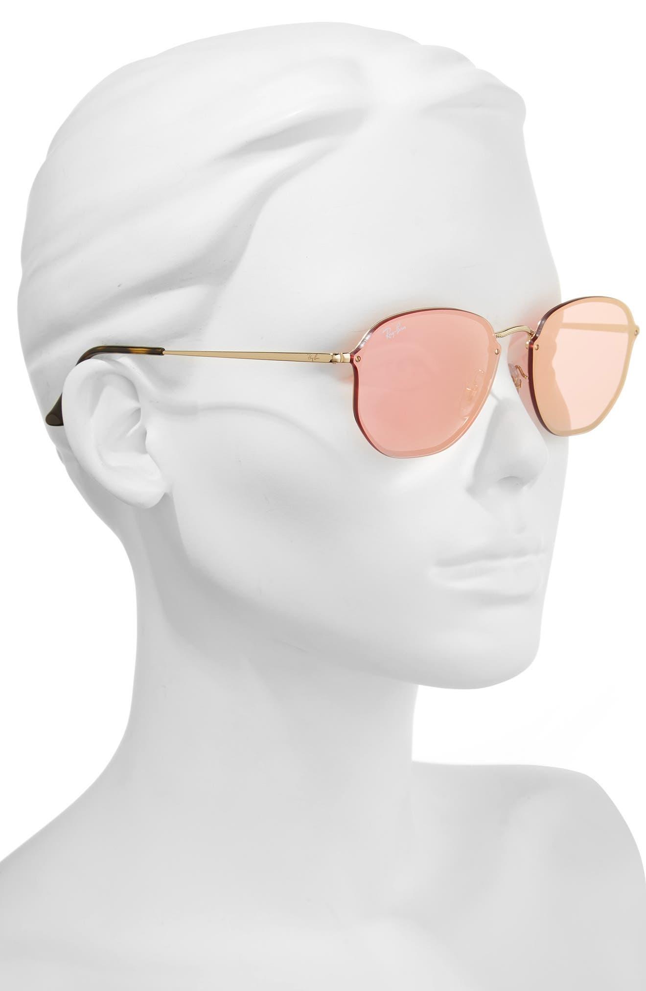 58mm Round Sunglasses,                             Alternate thumbnail 4, color,