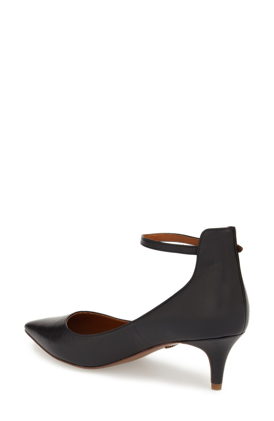 'Cutie' Ankle Strap Pointy Toe Pump,                             Alternate thumbnail 4, color,