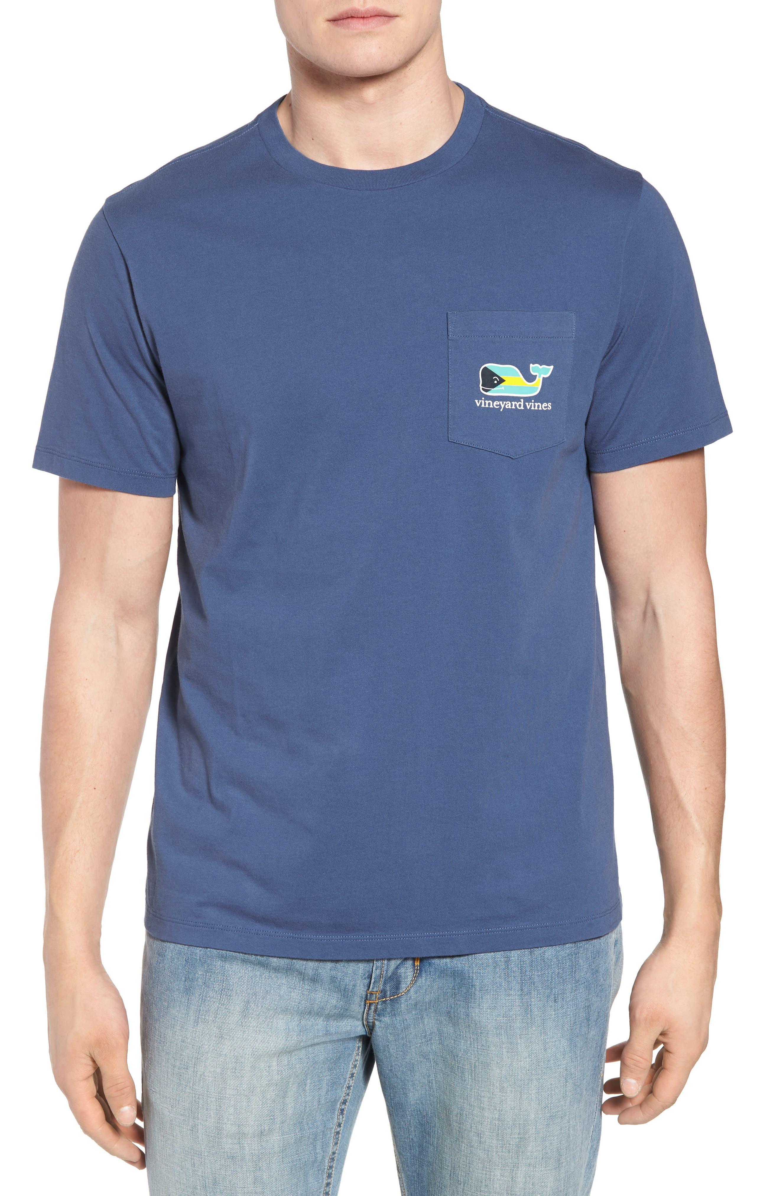 Bahamas Whale Crewneck Cotton T-Shirt,                             Main thumbnail 1, color,                             461