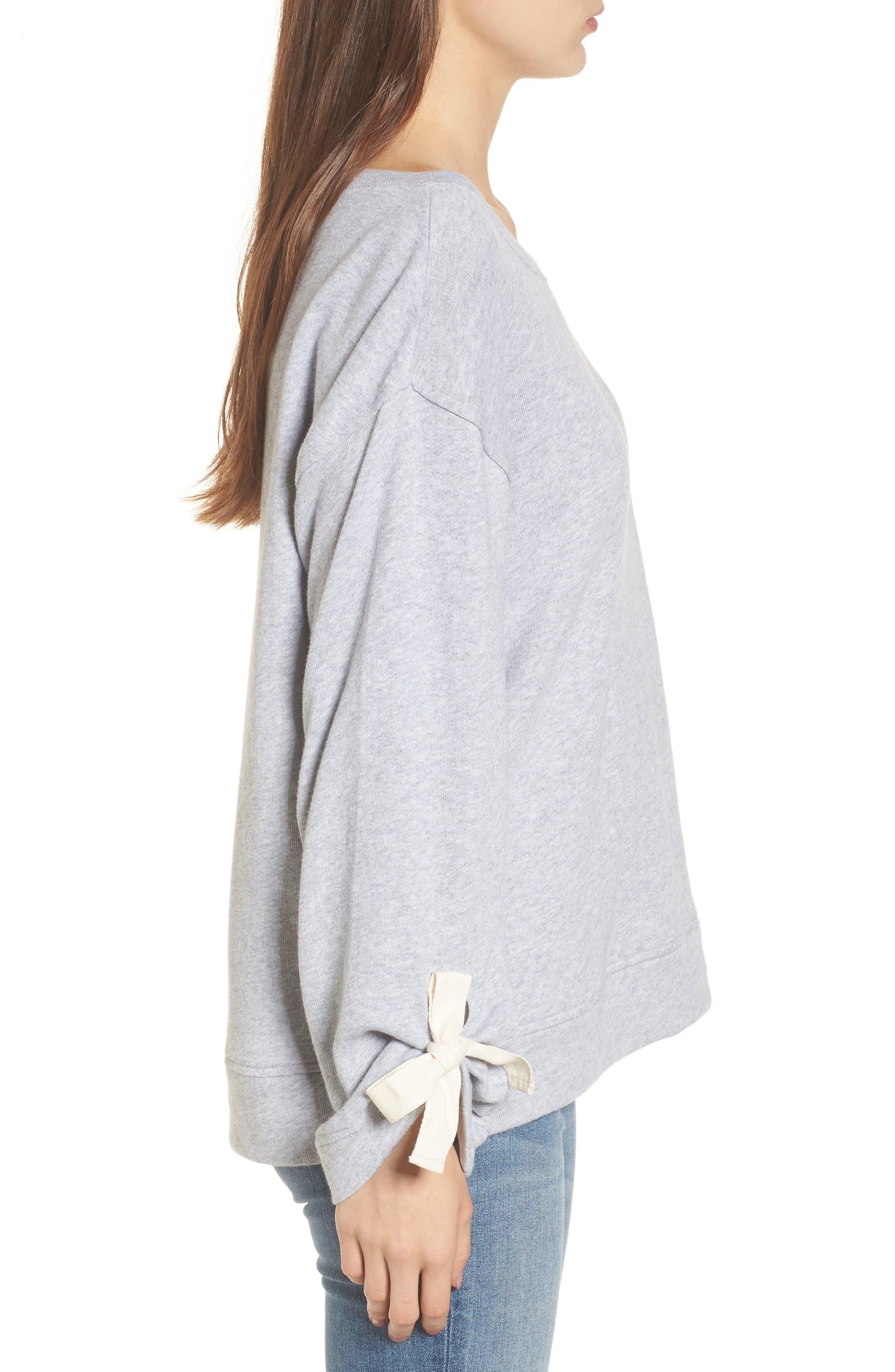 Tie Sleeve Sweater,                             Alternate thumbnail 5, color,