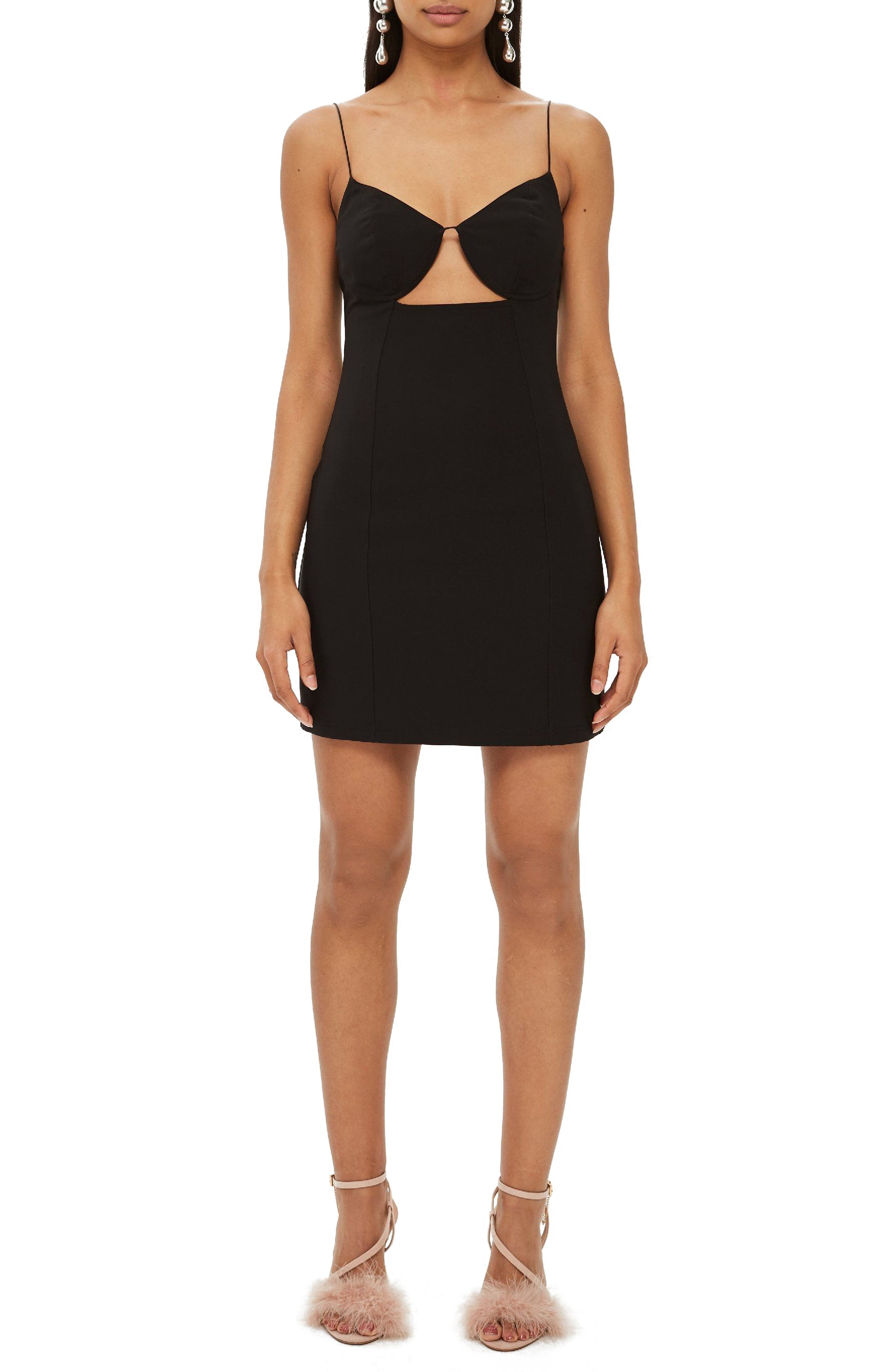 Topshop Deconstructed Bralet Body-Con Minidress, US (fits like 16-18) - Black