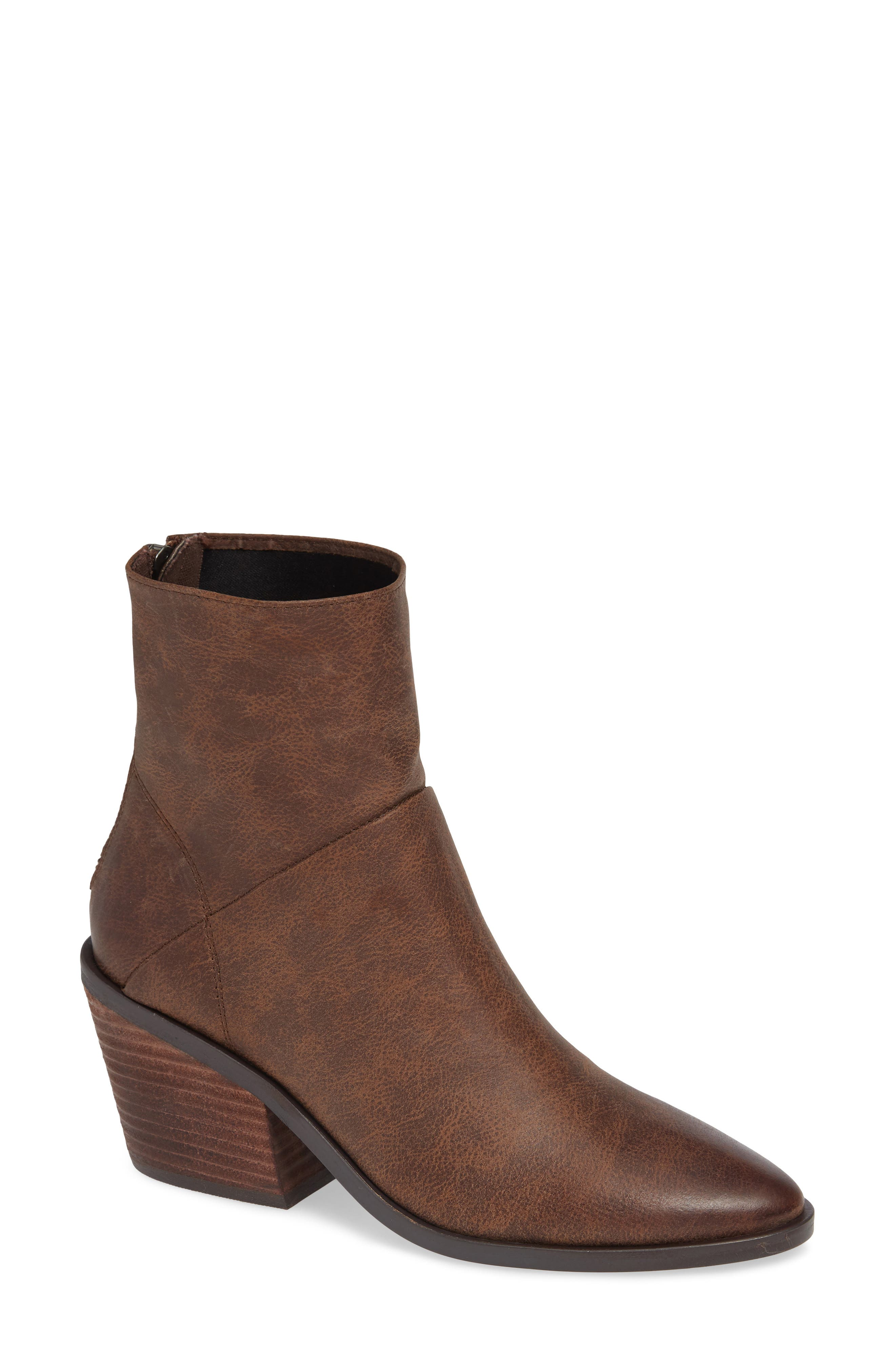 BAND OF GYPSIES Lakota Bootie in Brown Faux Leather