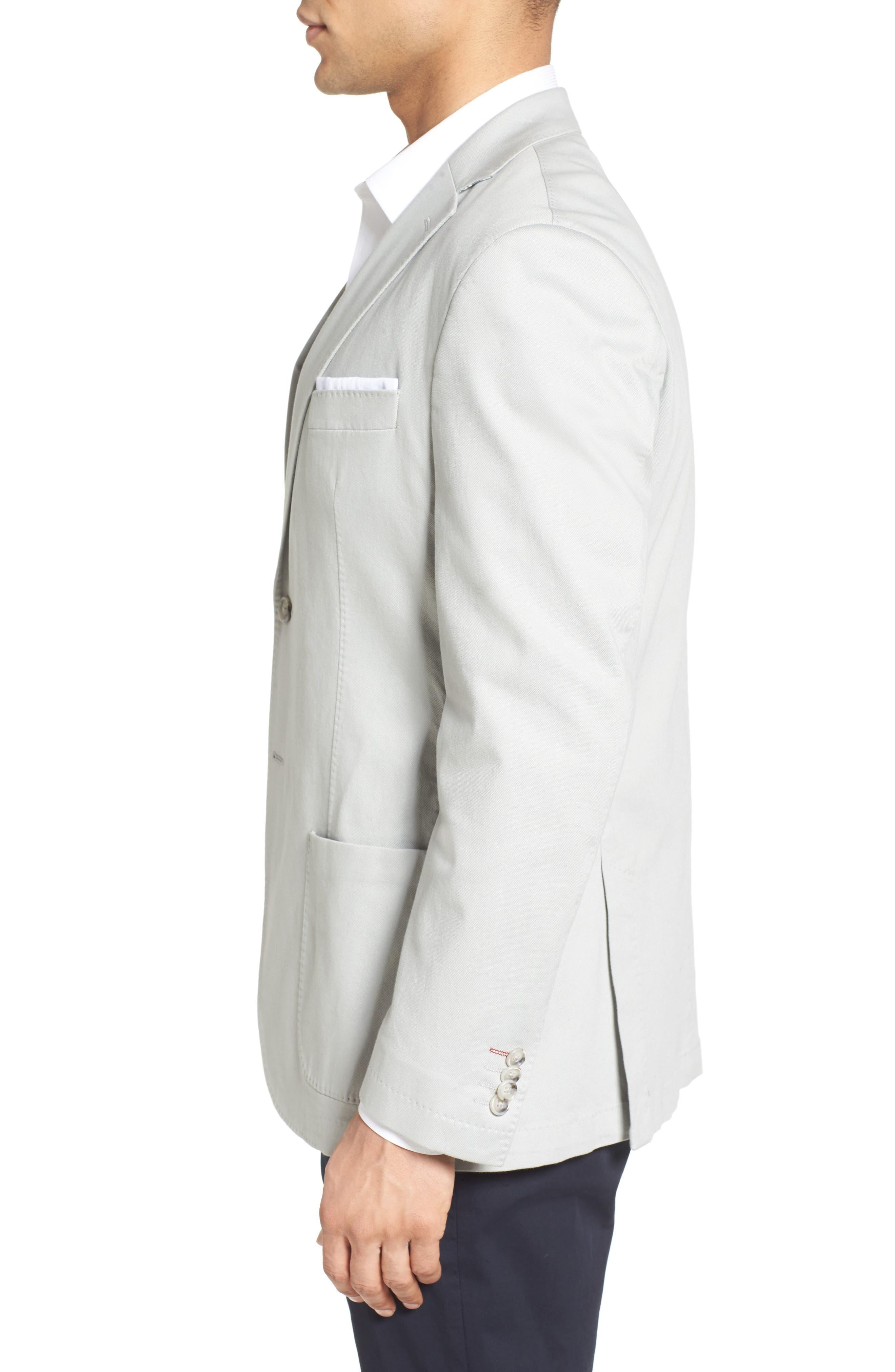 Trim Fit Stretch Cotton Blazer,                             Alternate thumbnail 3, color,                             051