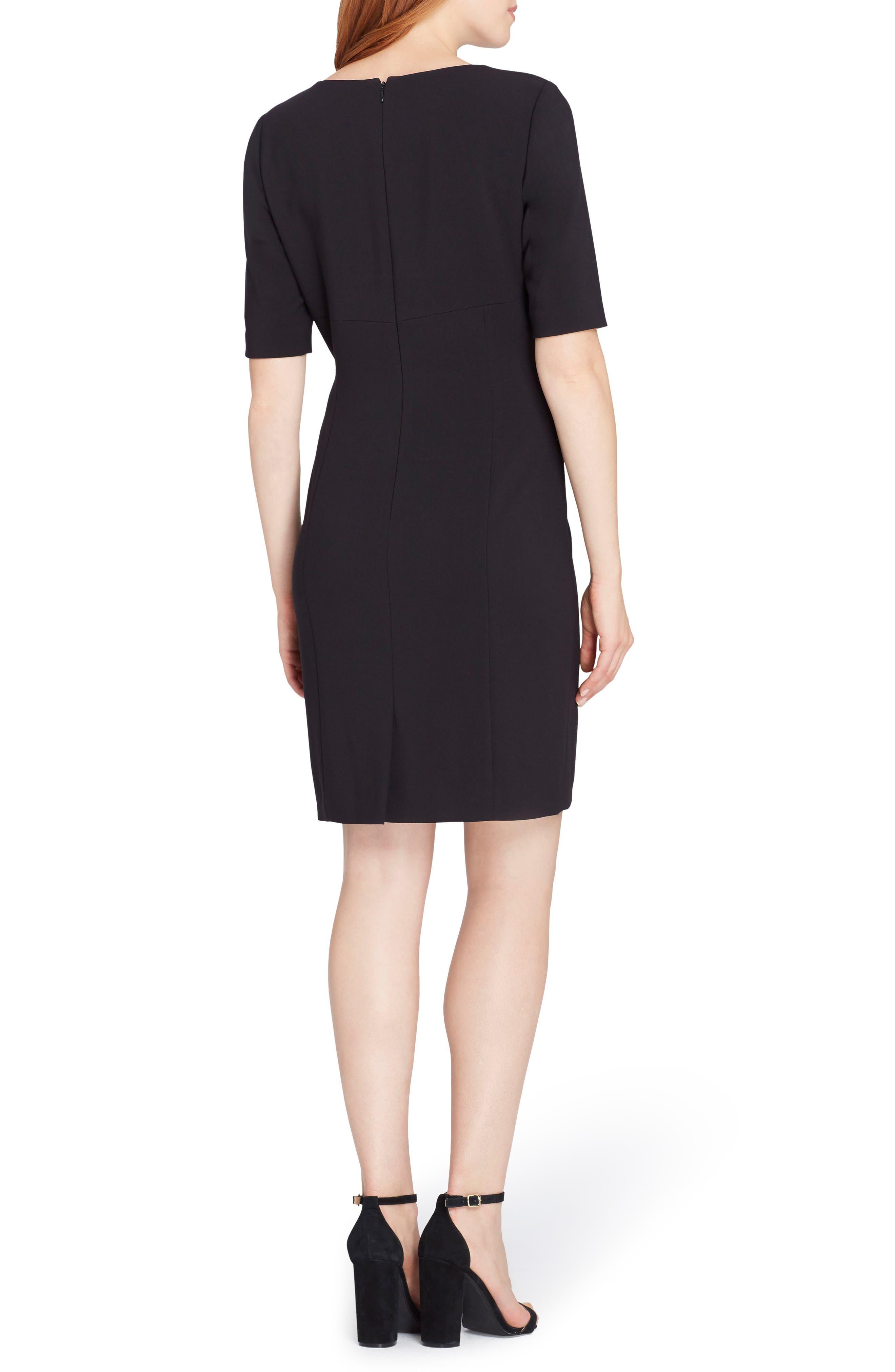 Lace Trim Sheath Dress,                             Alternate thumbnail 2, color,                             001