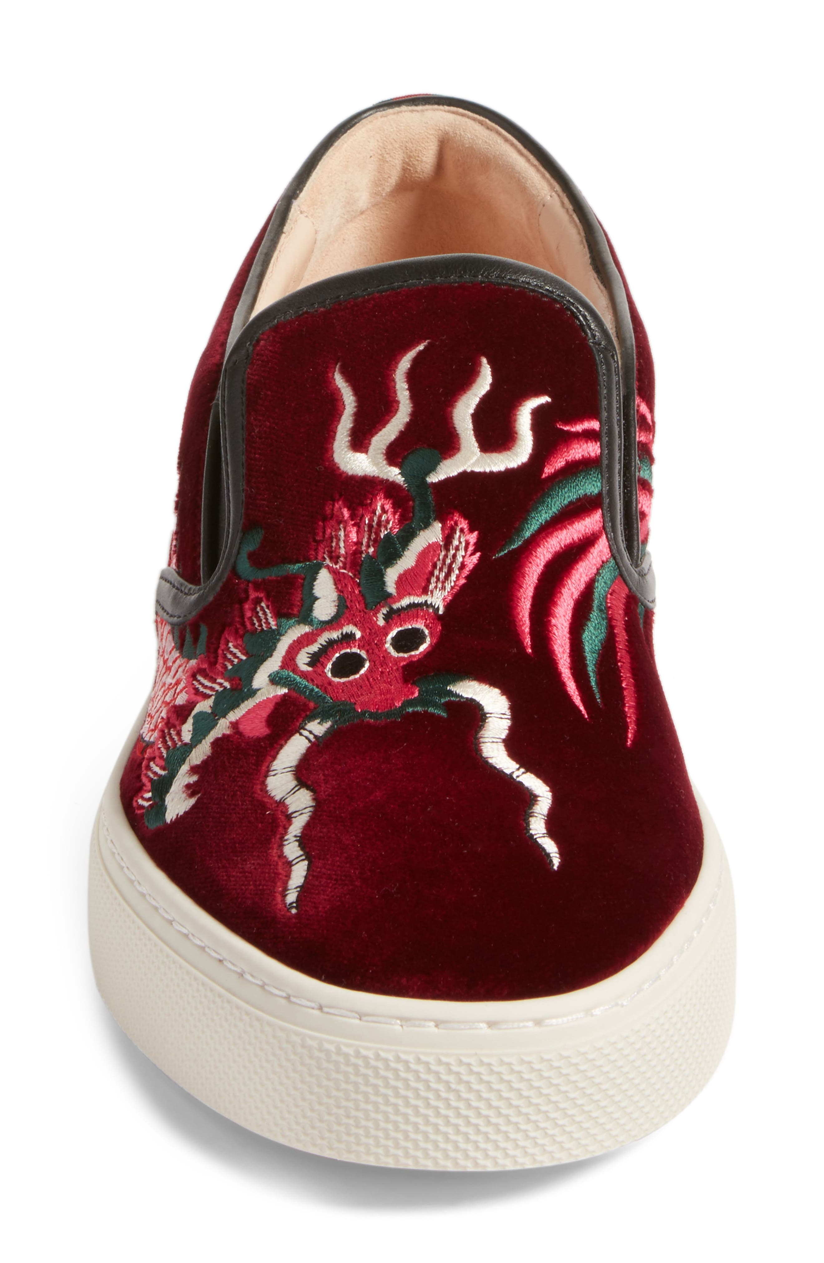 Dublin Embroidered Dragon Skate Sneaker,                             Alternate thumbnail 4, color,                             640