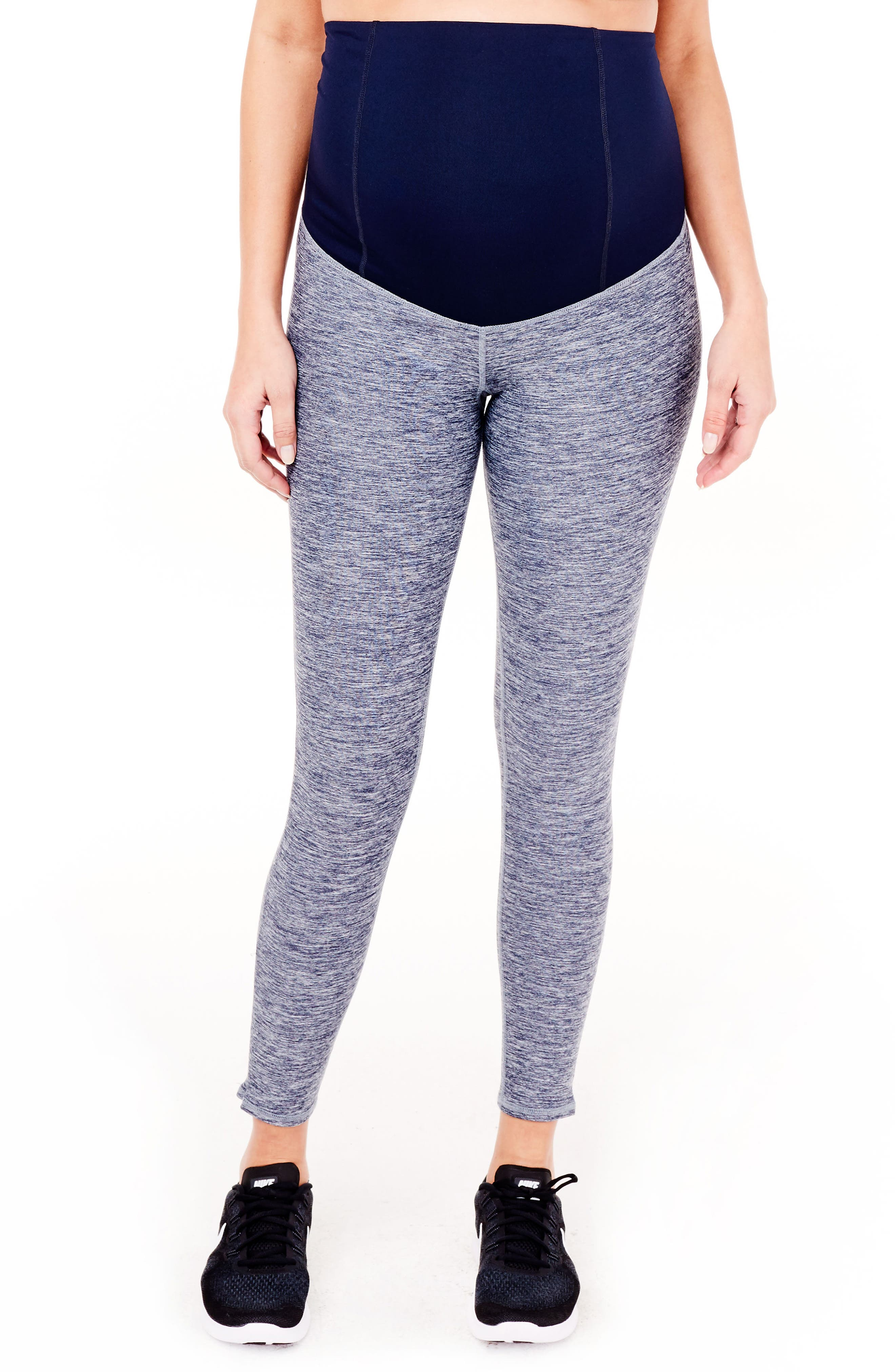 'Active' Maternity Leggings with Crossover Panel,                             Main thumbnail 1, color,                             417