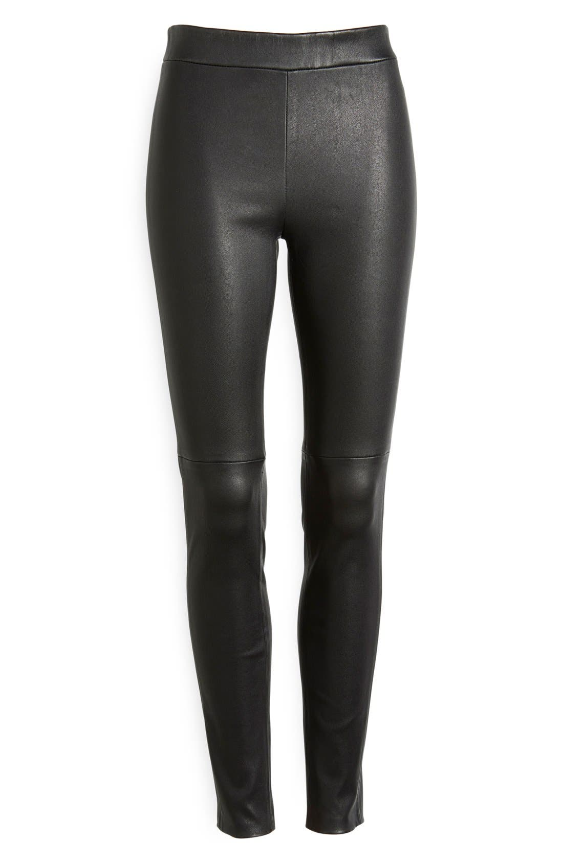 'Adbelle' Stretch Twill Leggings,                             Alternate thumbnail 5, color,                             001