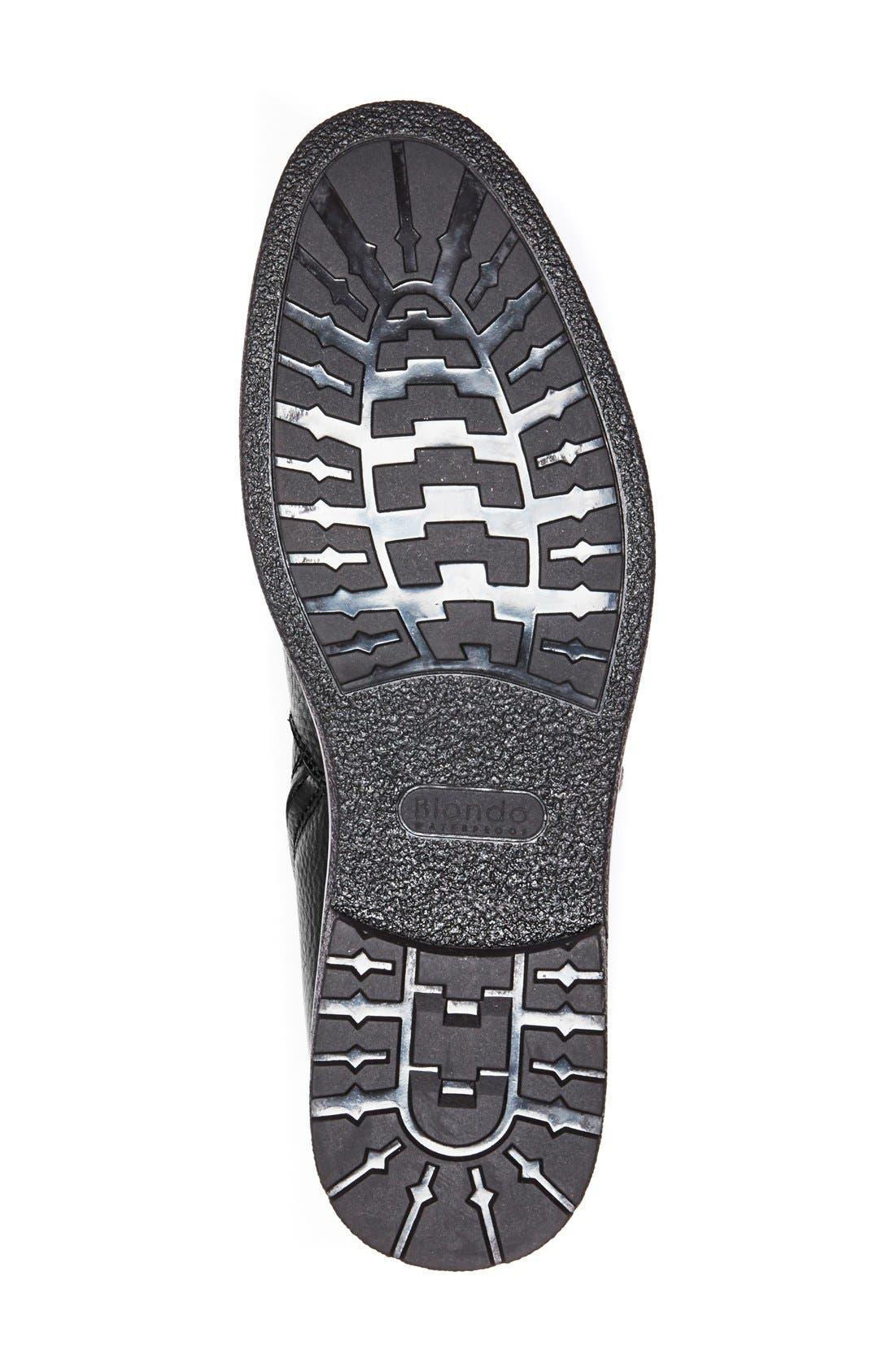 'Brawn' Waterproof Zip Boot,                             Alternate thumbnail 4, color,                             001