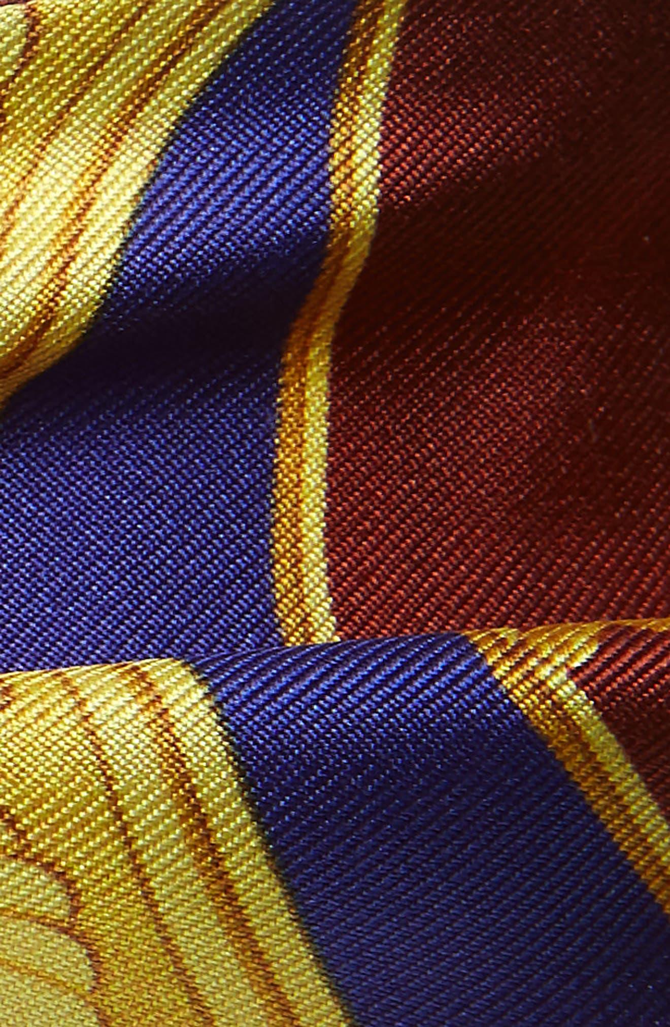 Patchwork Archive Print Silk Scarf,                             Alternate thumbnail 3, color,                             200