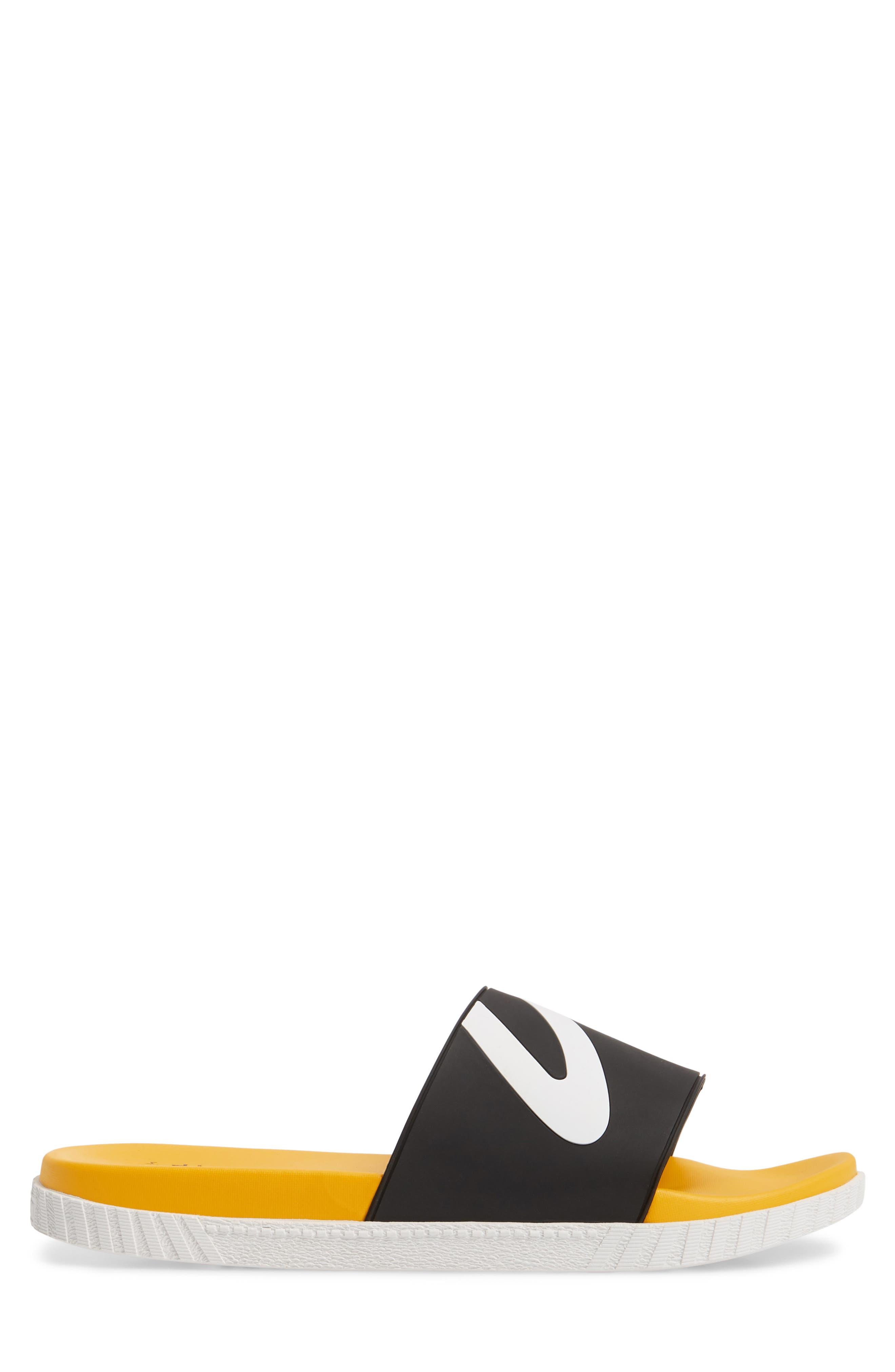 Andre 3000 Slide Sandal,                             Alternate thumbnail 3, color,                             BLACK