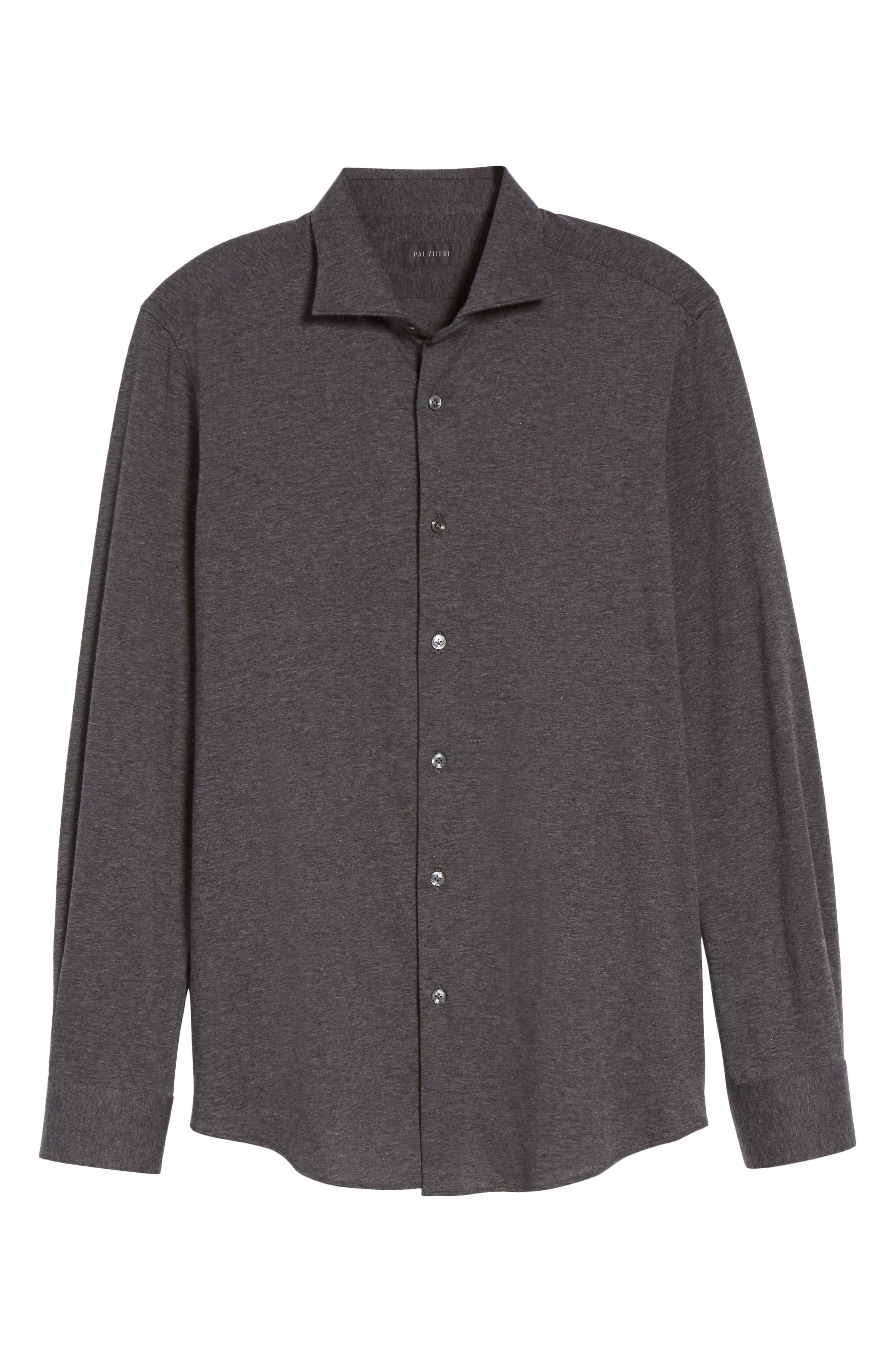 Slim Fit Jersey Sport Shirt,                             Alternate thumbnail 6, color,                             021