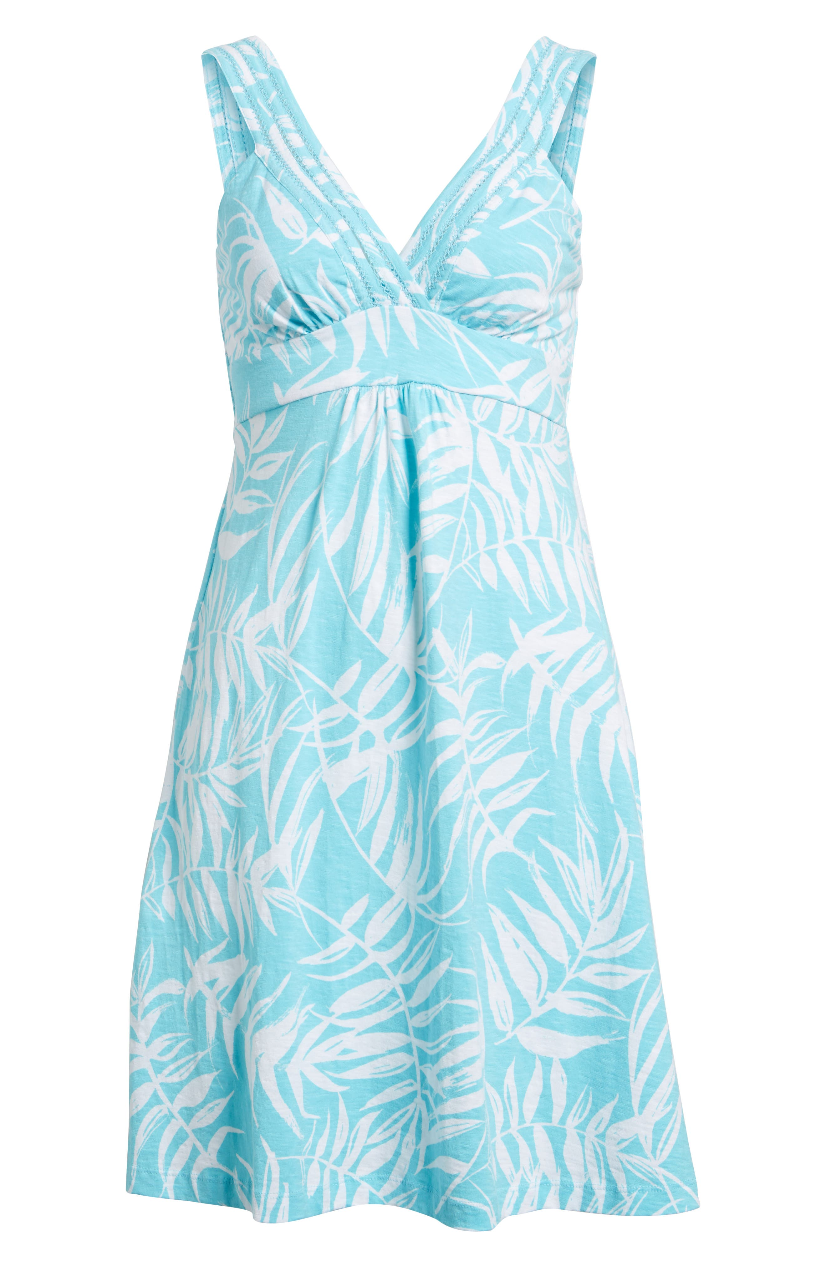 Fronds with Benefits Dress,                             Alternate thumbnail 6, color,                             BLUE RADIANCE