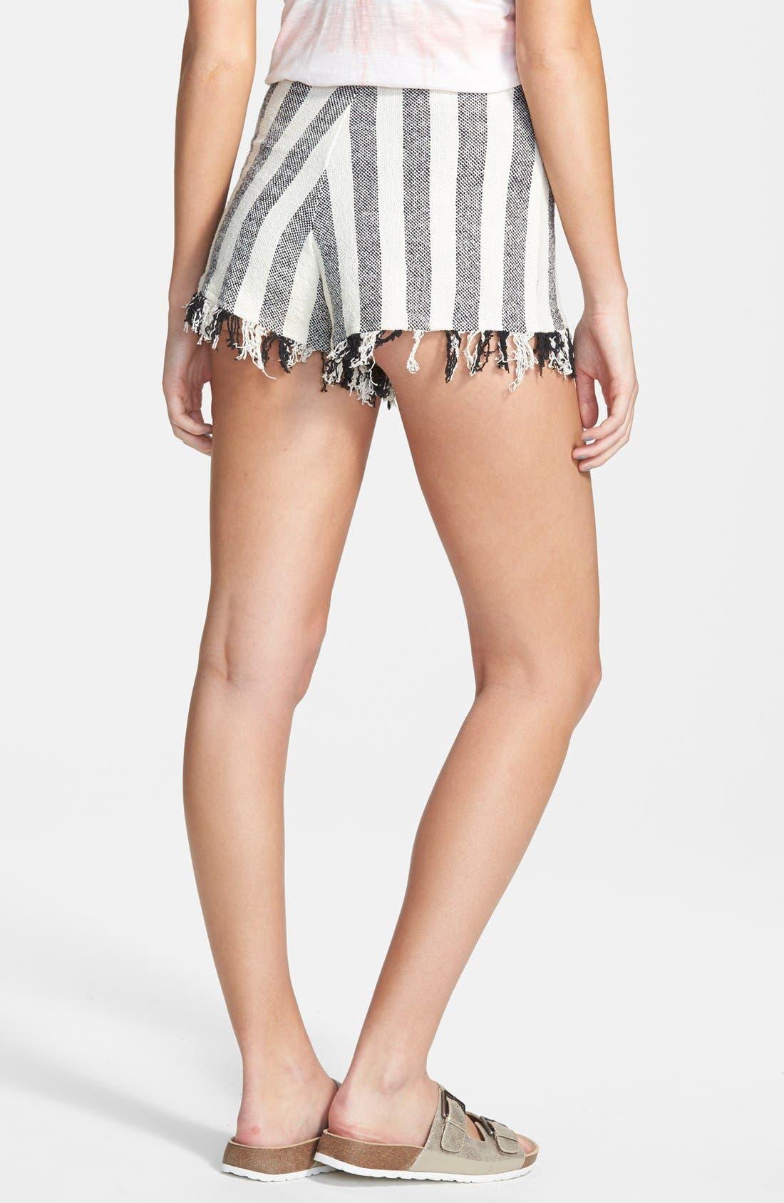 'Marooned' High Waist Woven Shorts,                             Alternate thumbnail 3, color,                             900