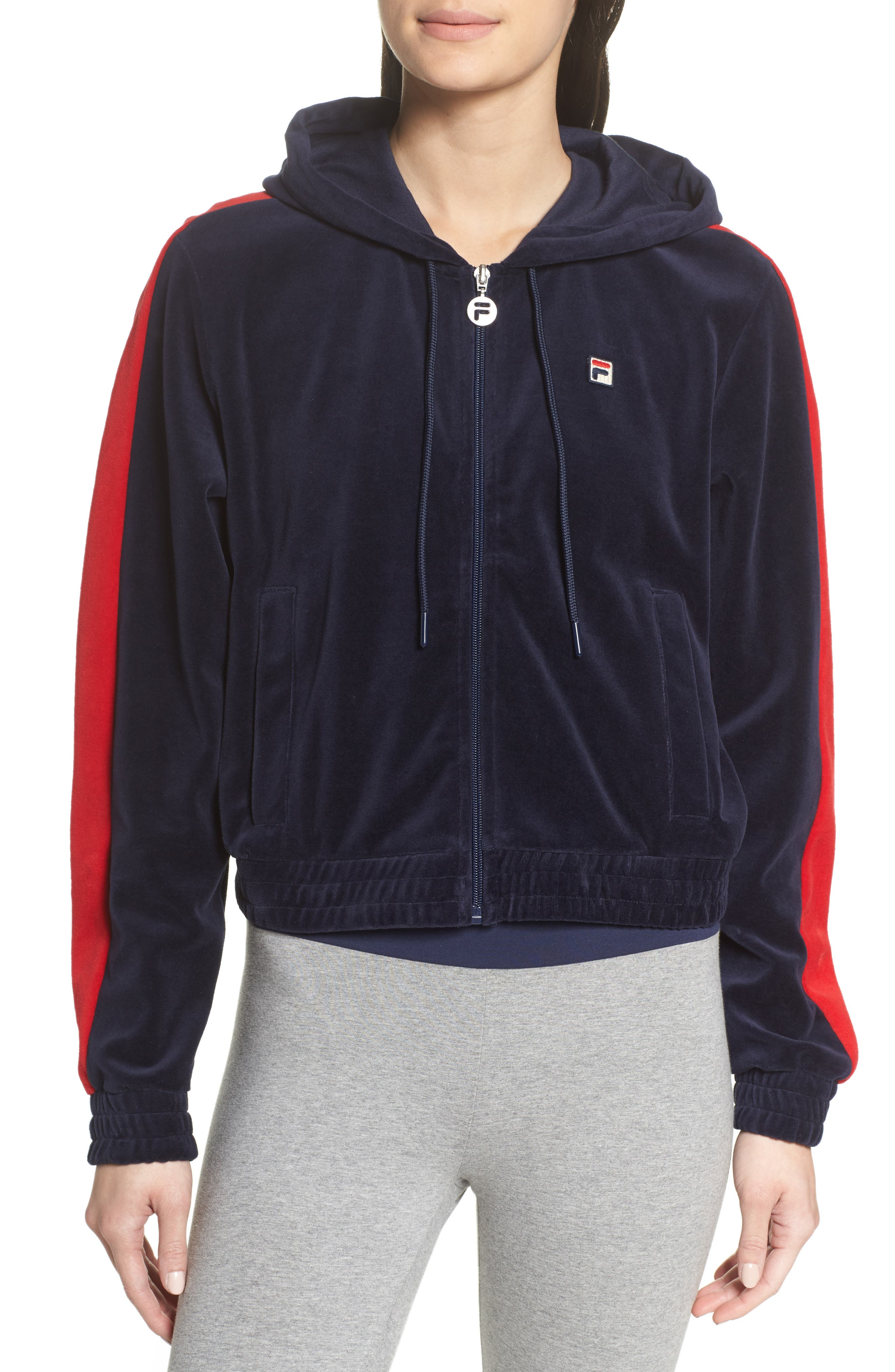 Carly Velour Hoodie,                             Alternate thumbnail 9, color,