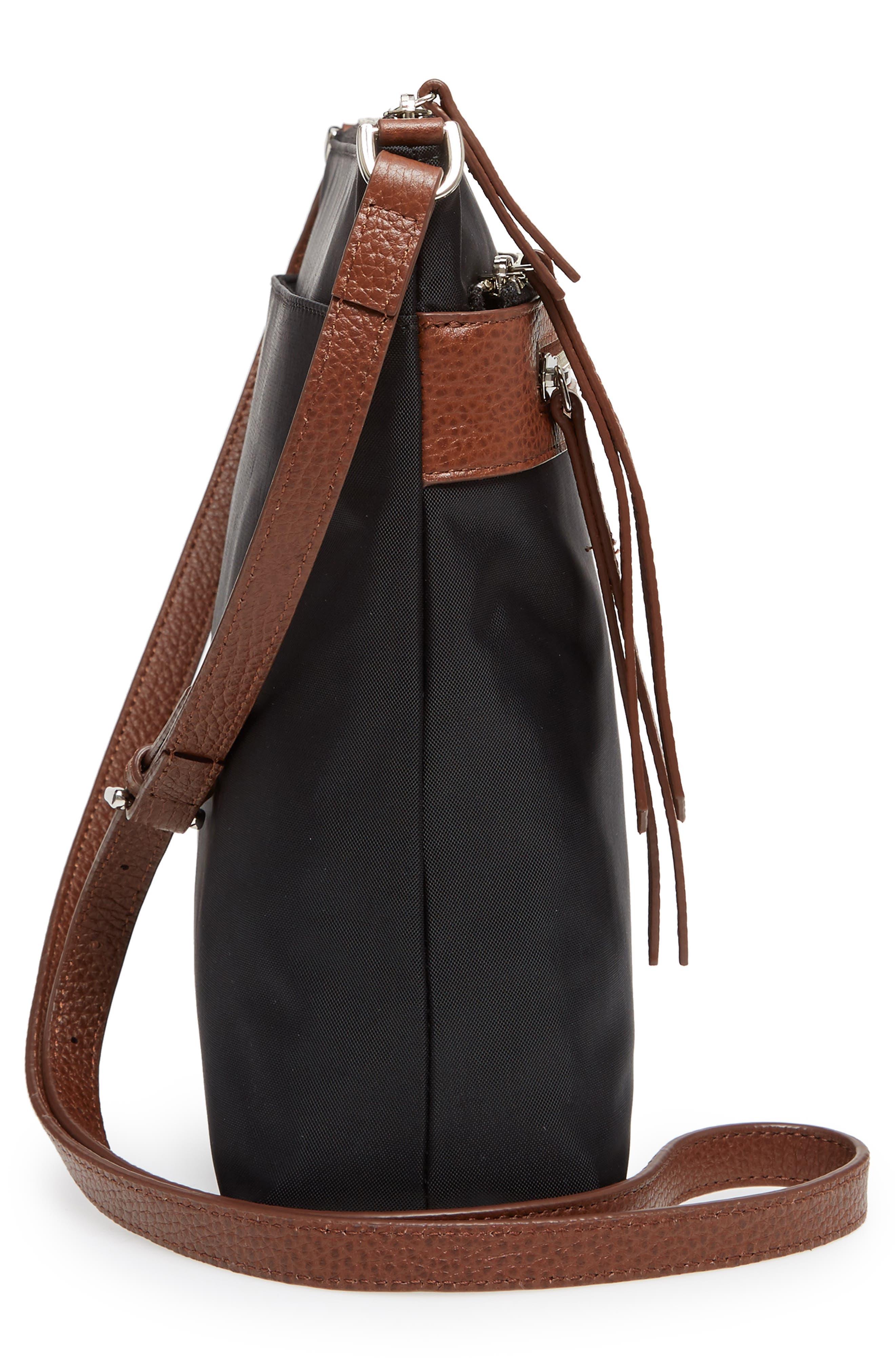 Kaison Nylon Crossbody Bag,                             Alternate thumbnail 5, color,                             002