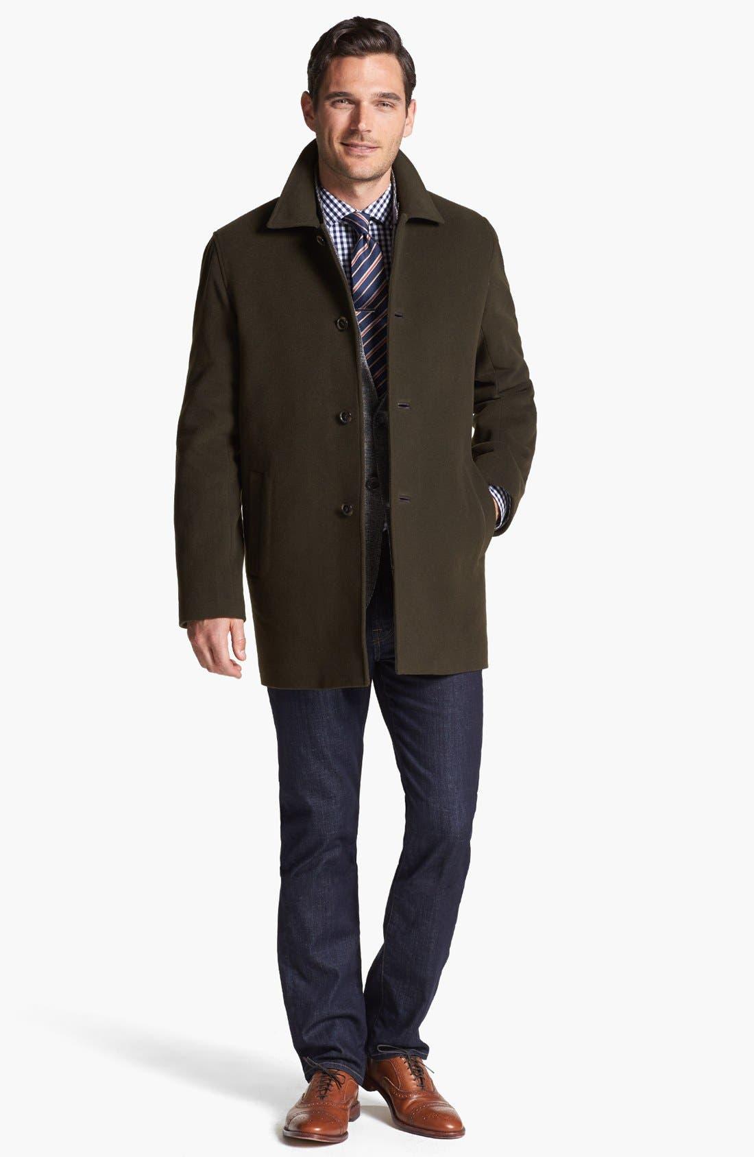 Italian Wool Blend Overcoat,                             Alternate thumbnail 15, color,