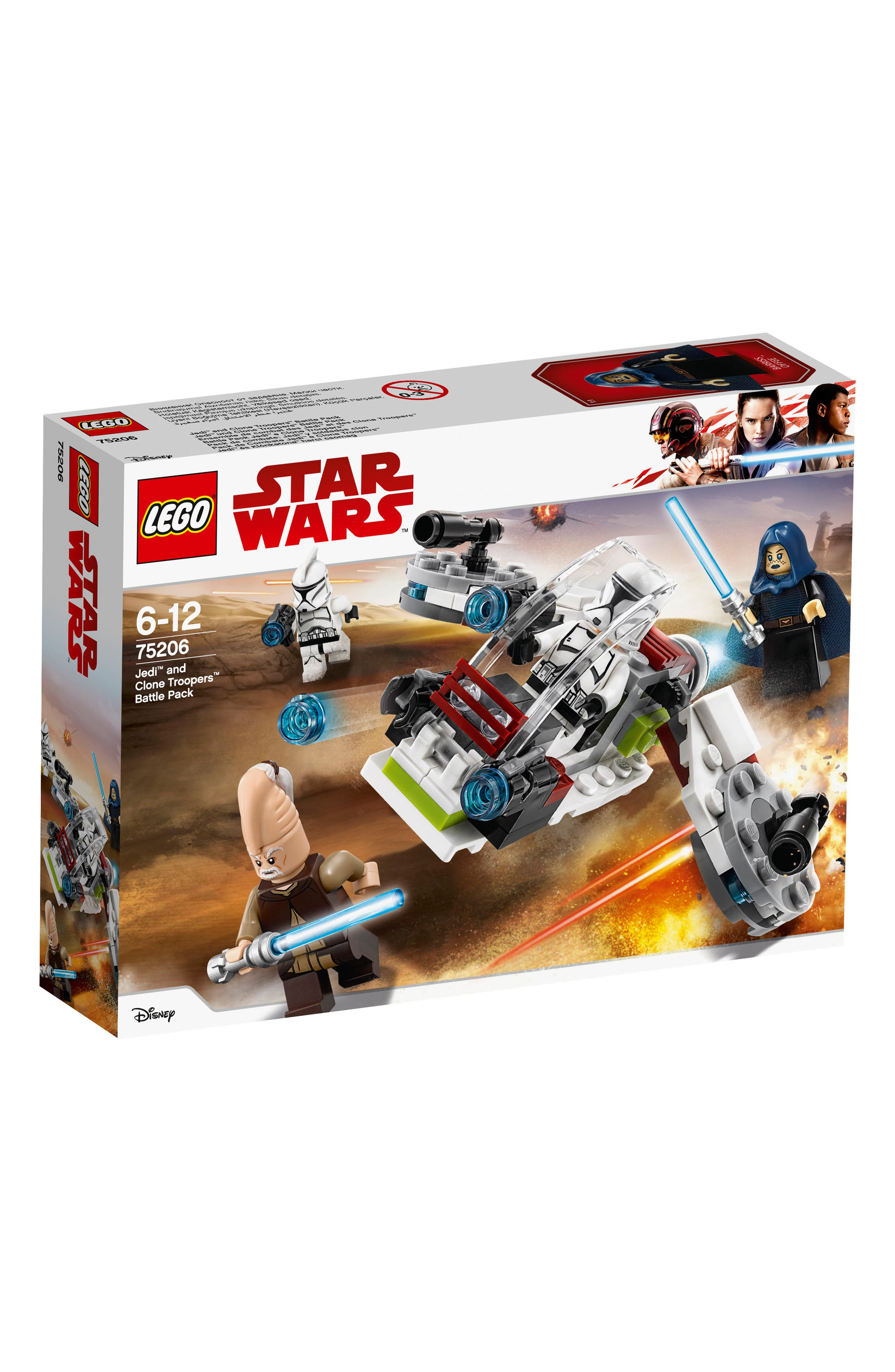 Jedi<sup>™</sup> and Clone Troopers<sup>™</sup> Battle Pack - 75206,                             Alternate thumbnail 3, color,                             100