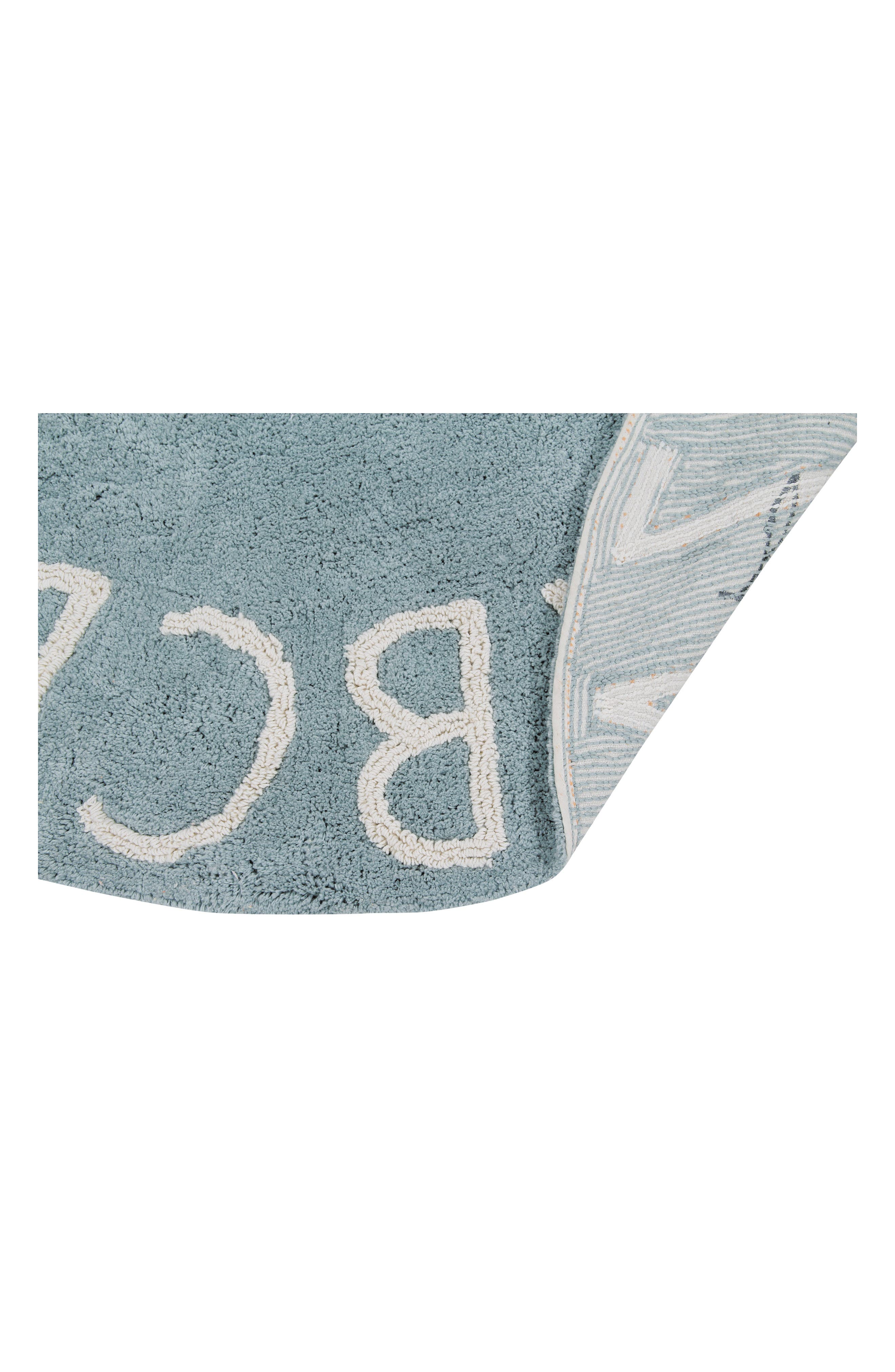 A to Z Rug,                             Alternate thumbnail 3, color,                             ROUND VINTAGE BLUE