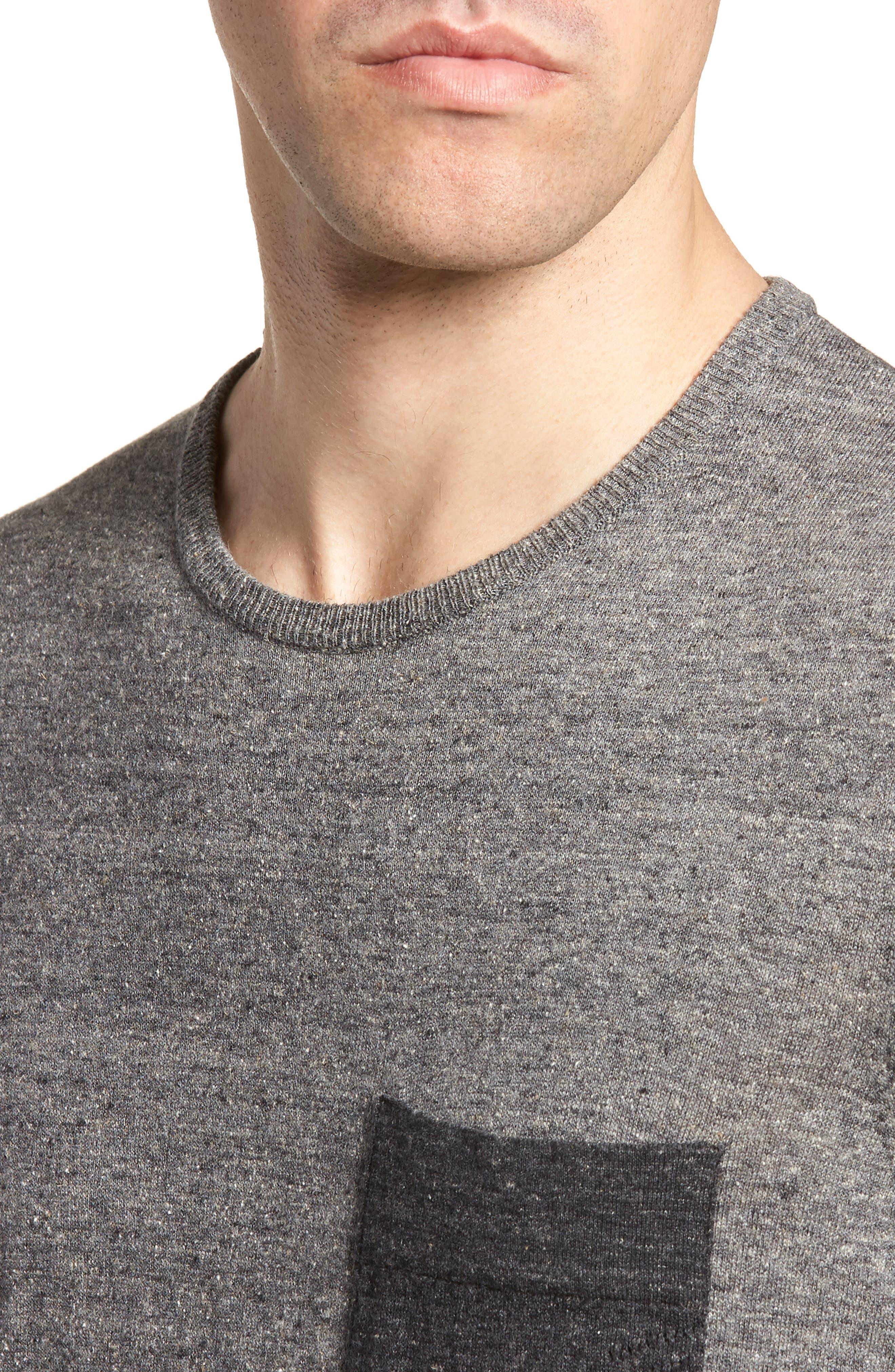 Two-Tone Crewneck T-Shirt,                             Alternate thumbnail 4, color,                             060