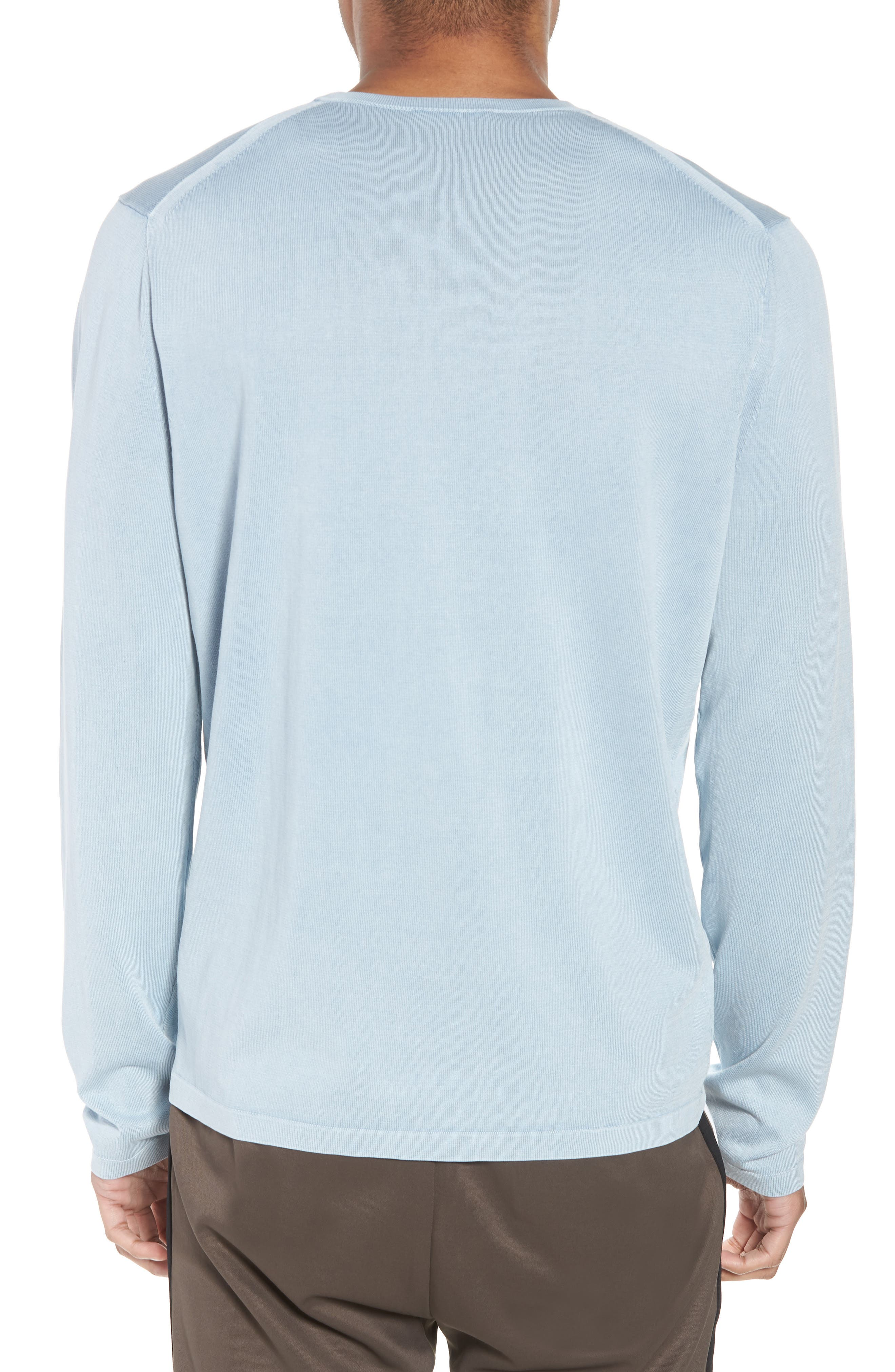 Crewneck Cotton Sweater,                             Alternate thumbnail 2, color,                             ARCTIC