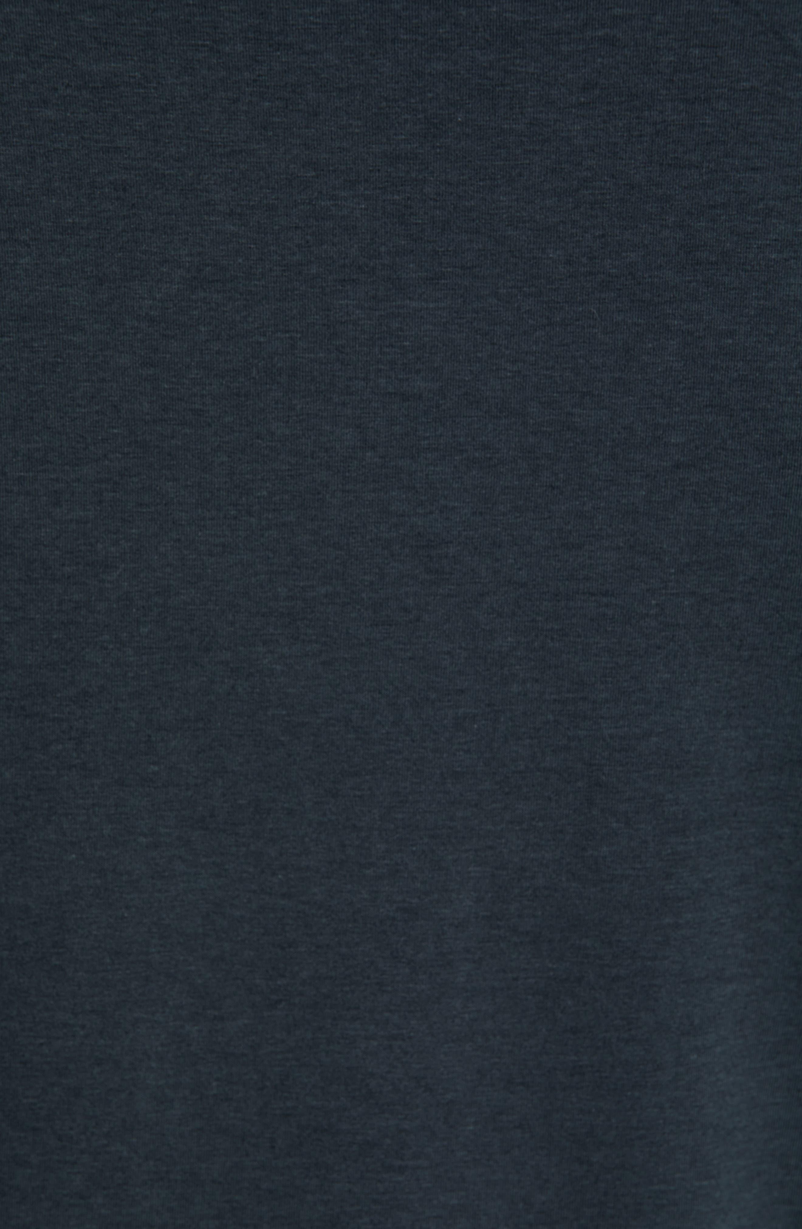 Charge II Long Sleeve T-Shirt,                             Alternate thumbnail 5, color,                             GUNMETAL/ ECLIPSE