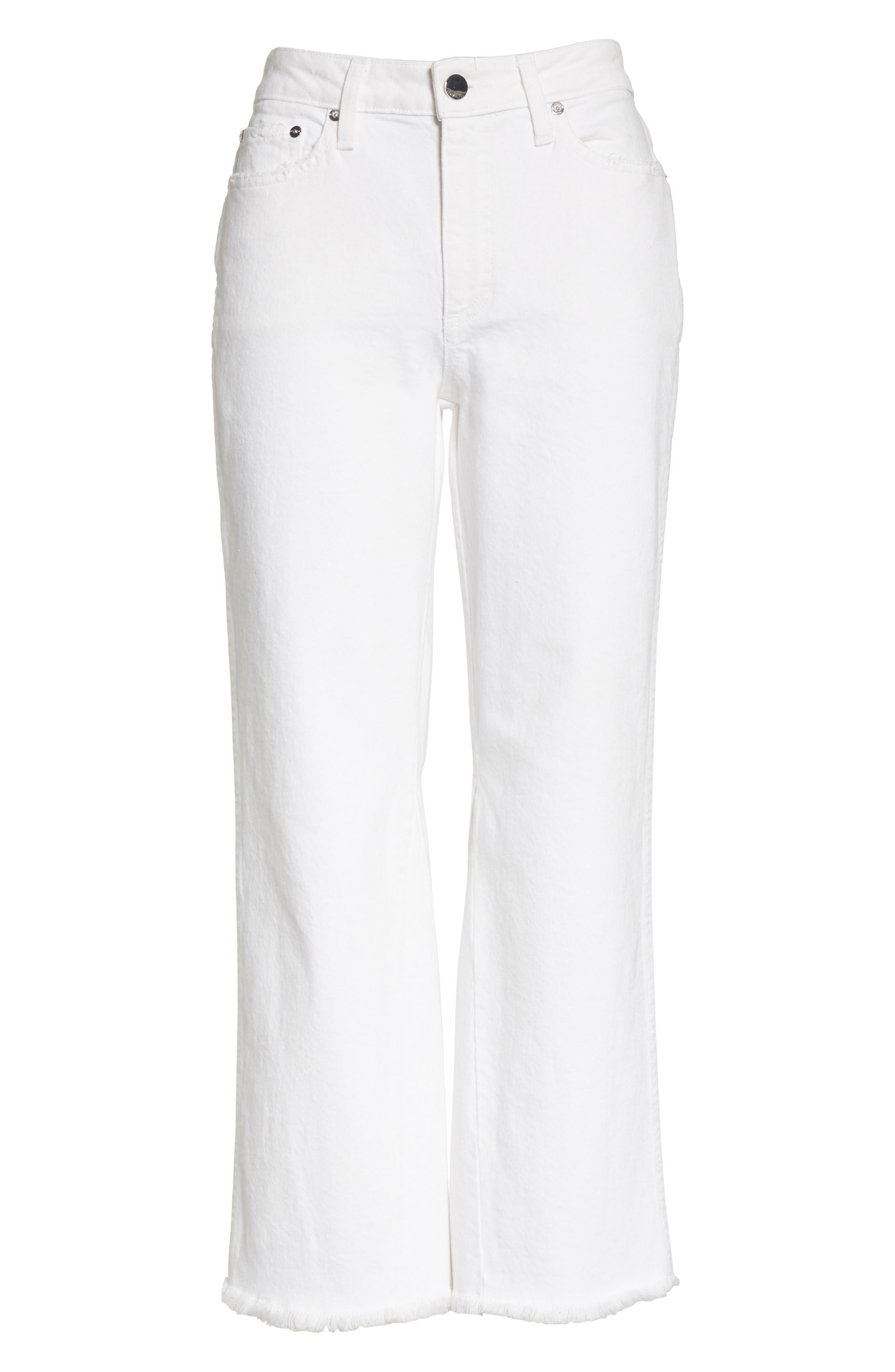 AO.LA Perfect Crop Kick Flare Jeans,                             Alternate thumbnail 6, color,                             160
