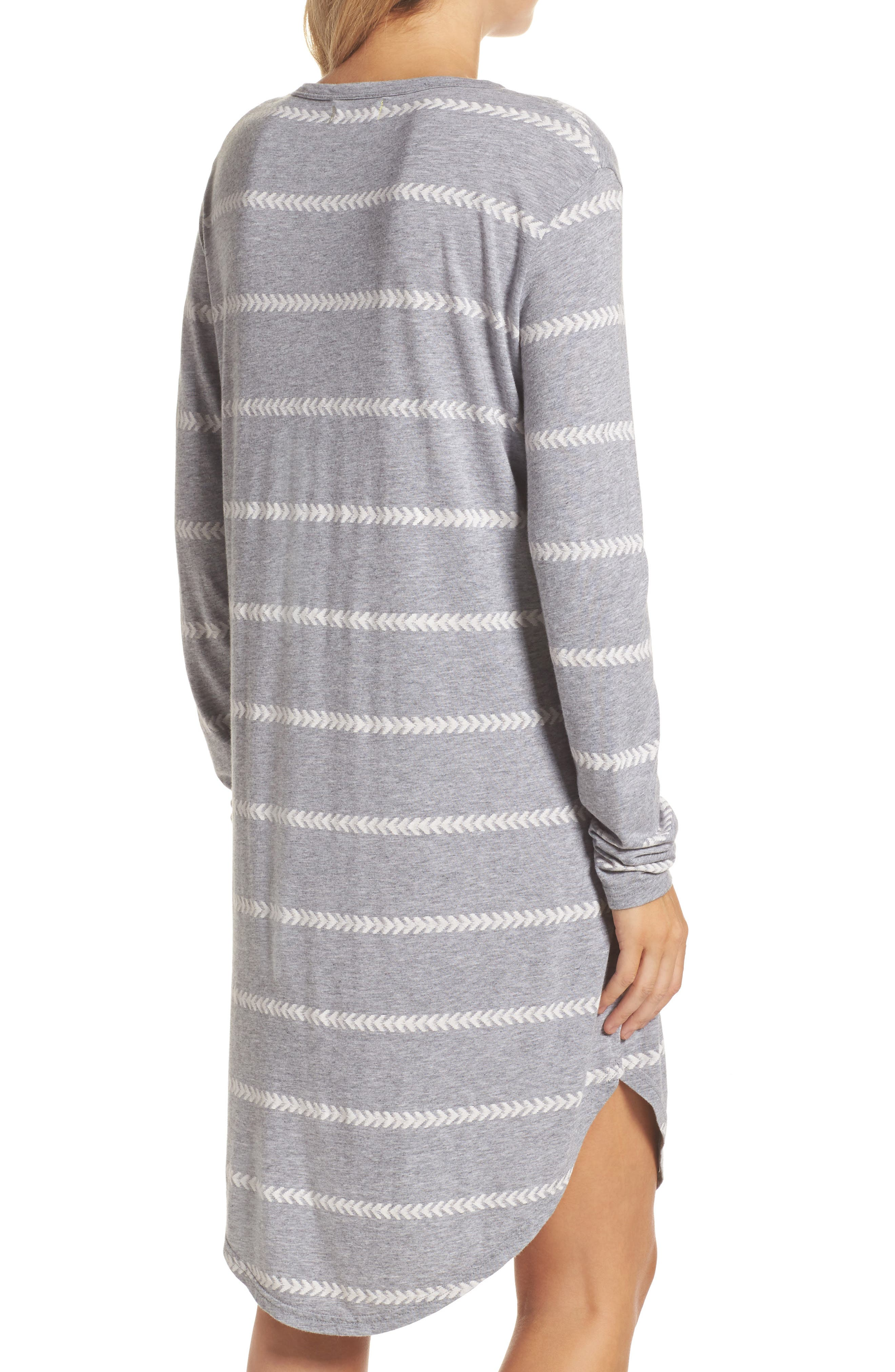 Wednesday Stripe Sleep Shirt,                             Alternate thumbnail 2, color,                             020