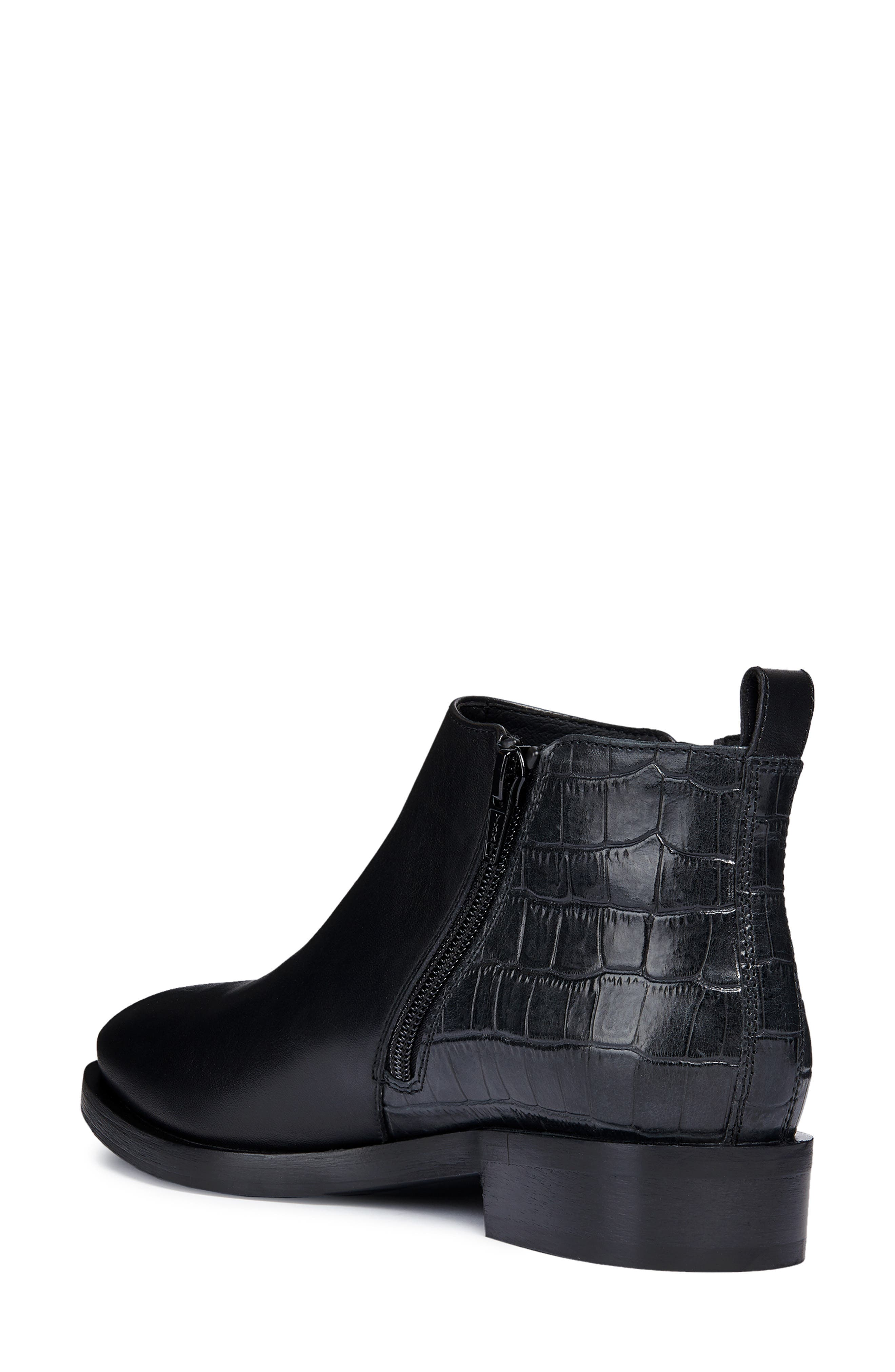 Brogue Bootie,                             Alternate thumbnail 2, color,                             BLACK LEATHER