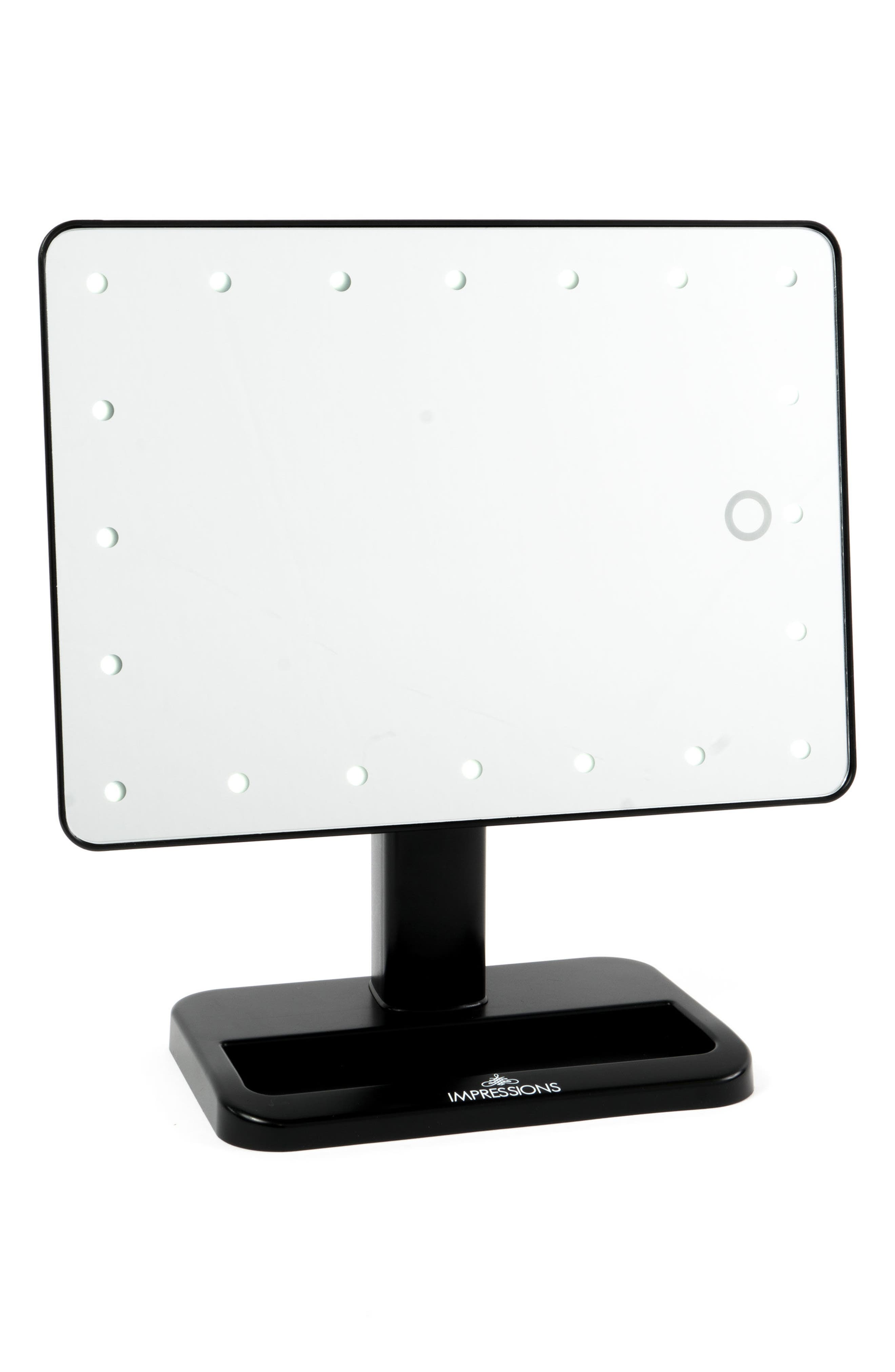 Touch XL Dimmable LED Makeup Mirror with Removable 5x Mirror,                             Alternate thumbnail 5, color,                             001