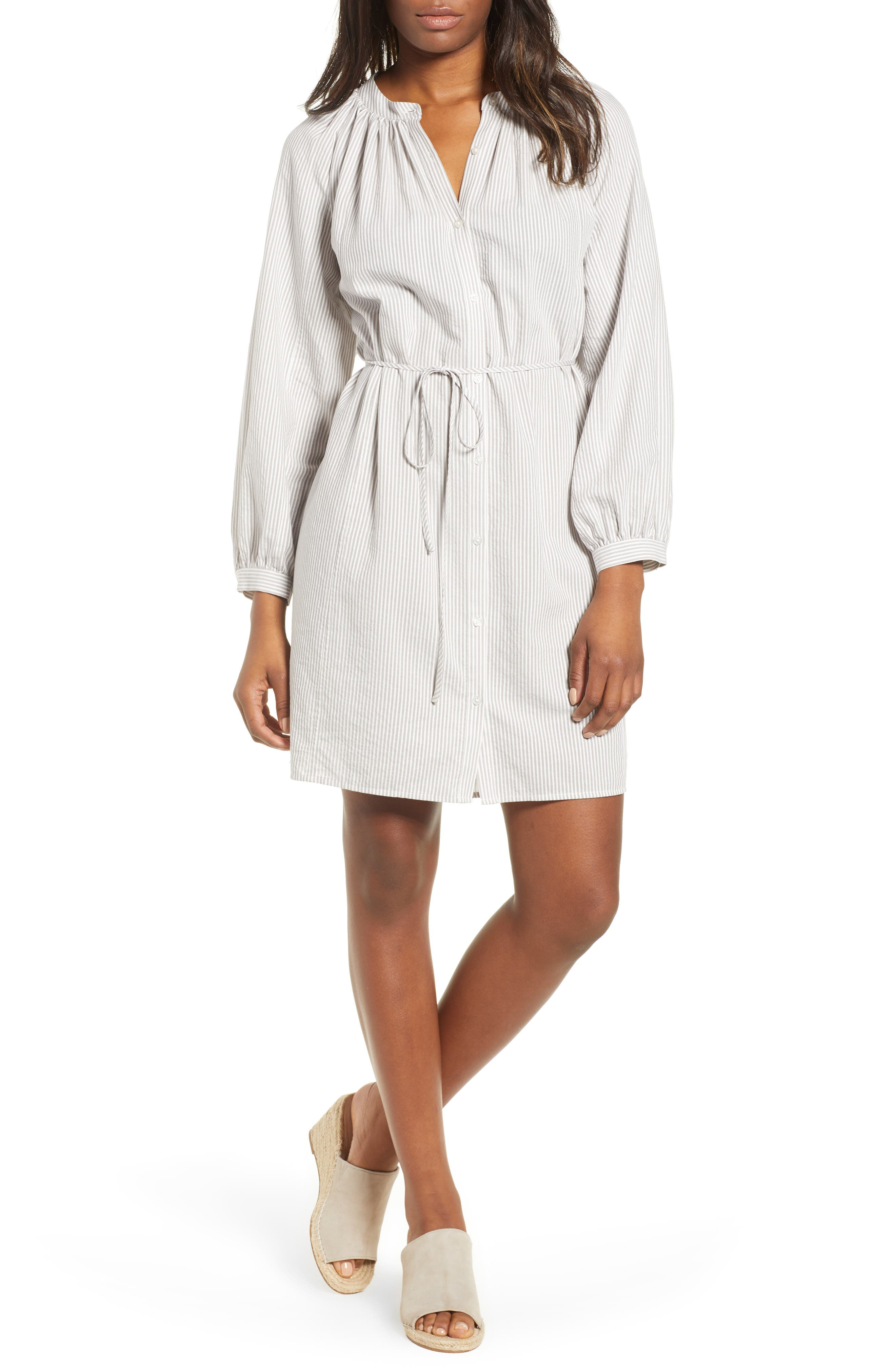 Stripe Smocked Dress,                         Main,                         color, 050