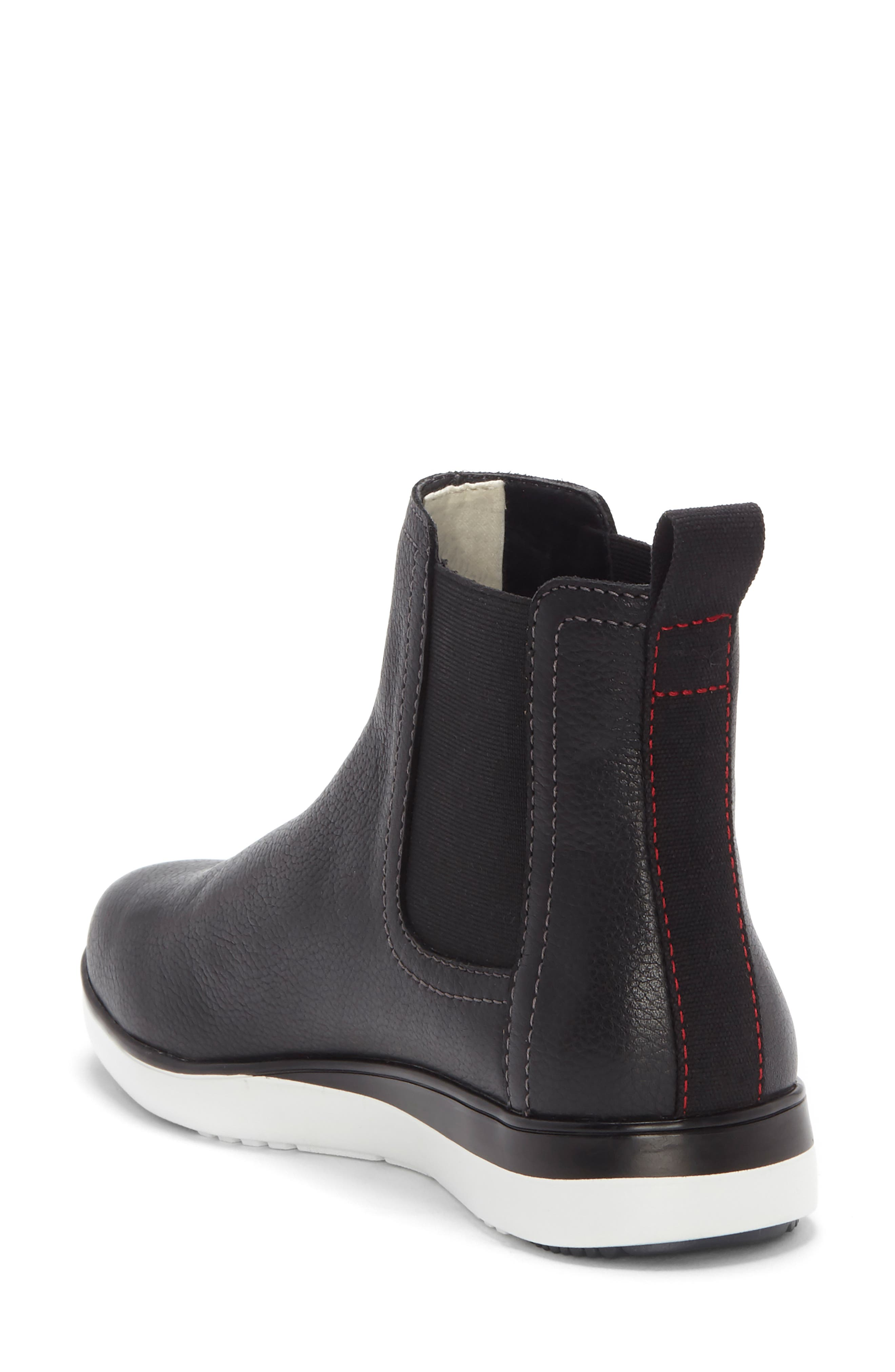 Alvarie Chelsea Bootie,                             Alternate thumbnail 2, color,                             BLACK LEATHER