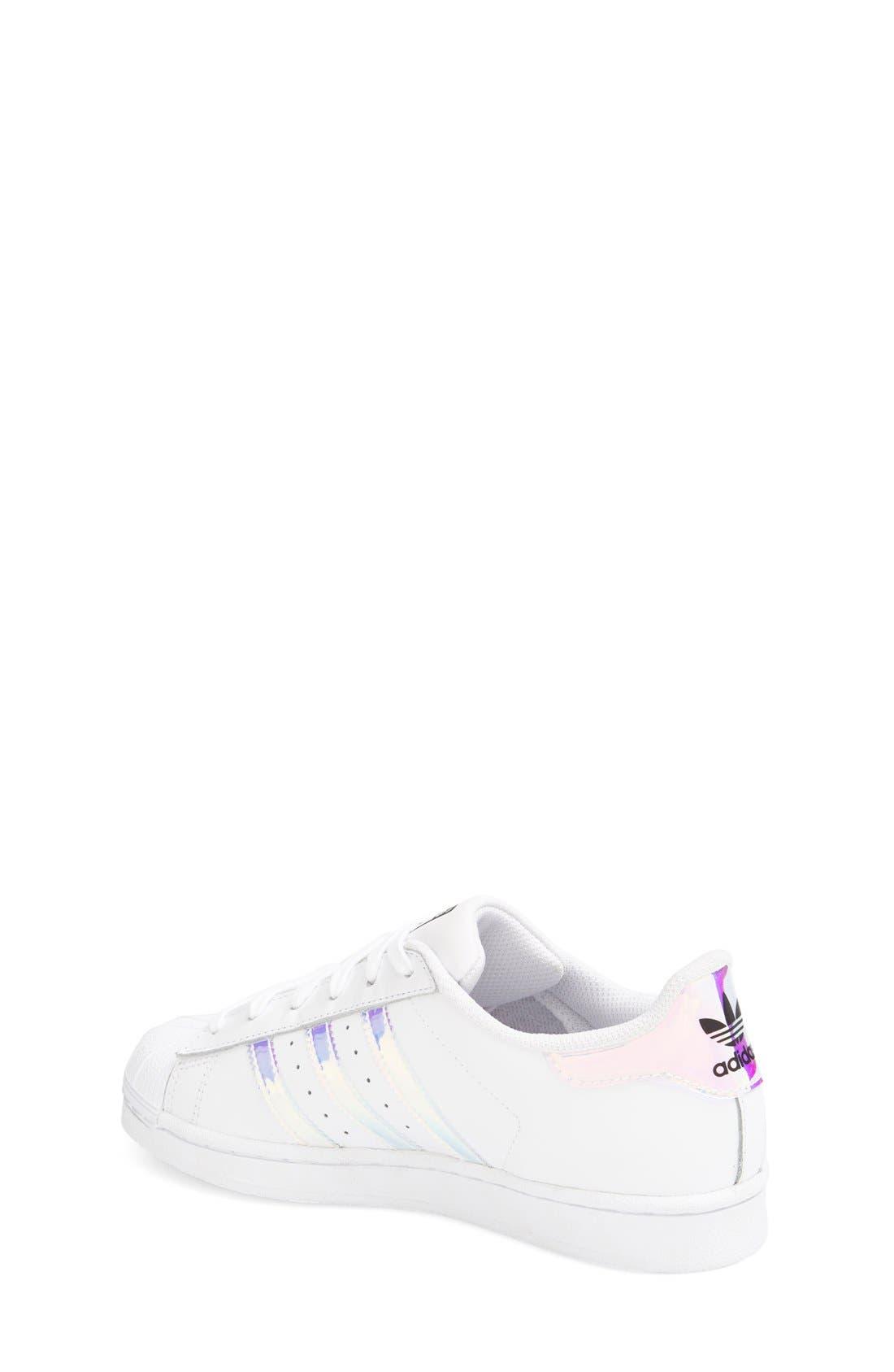 Superstar - Iridescent Sneaker,                             Alternate thumbnail 10, color,                             SILVER METALLIC/ WHITE