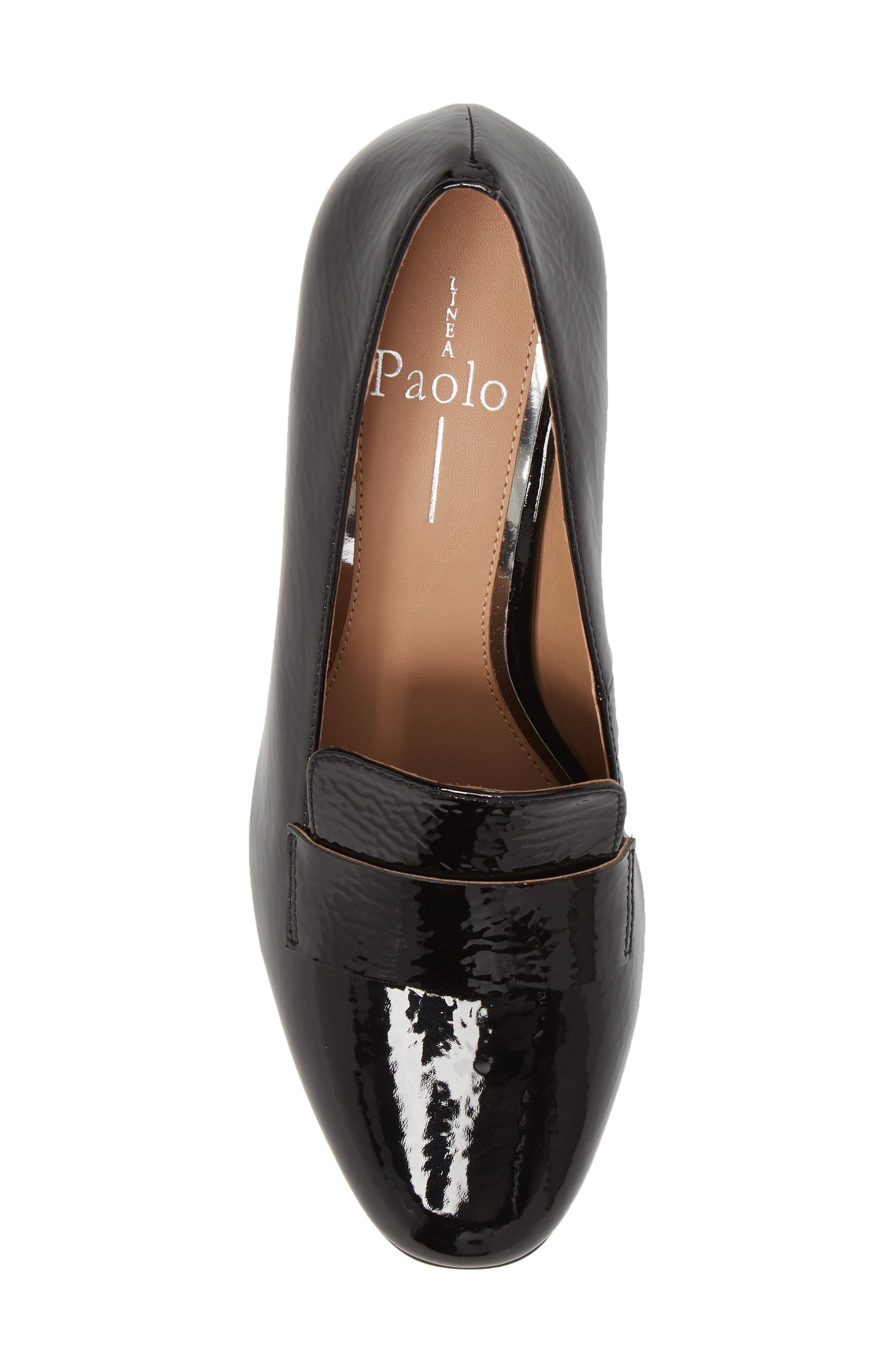 Camryn Loafer Pump,                             Alternate thumbnail 5, color,                             BLACK CRINKLE PATENT