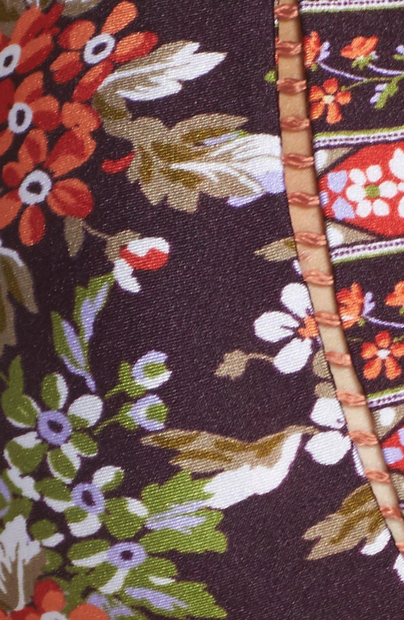 Floral Cottage Halter Bikini Top,                             Alternate thumbnail 5, color,                             502
