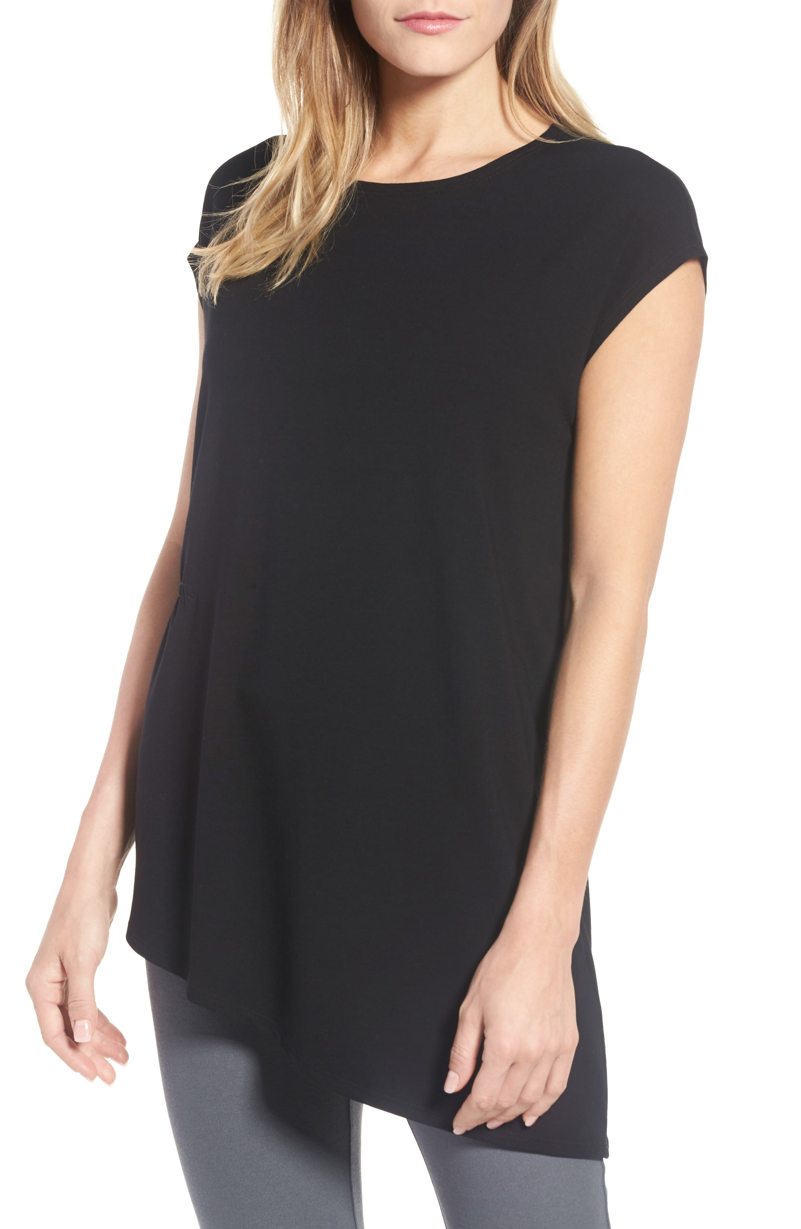 Asymmetrical Stretch Jersey Top,                         Main,                         color, 001