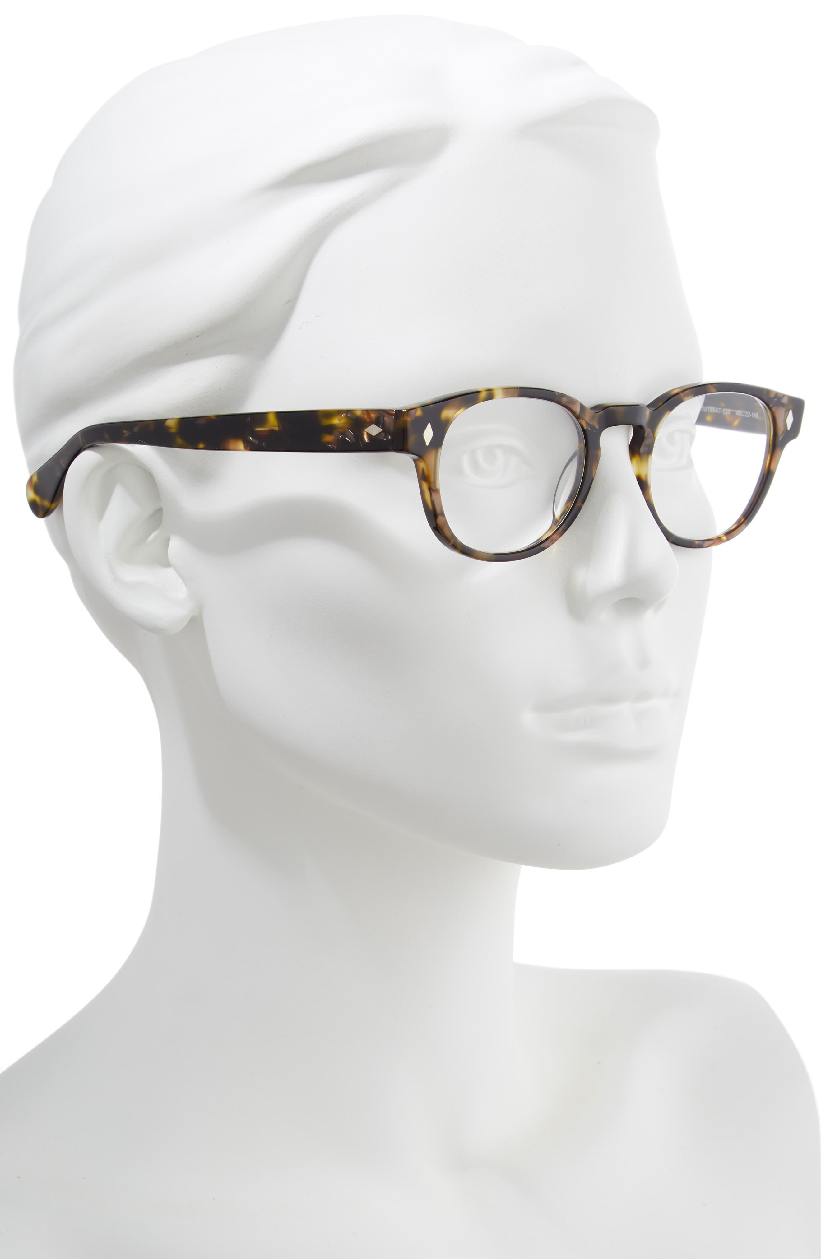 Elsa 48mm Reading Glasses,                             Alternate thumbnail 2, color,                             METALLIC TORTOISE