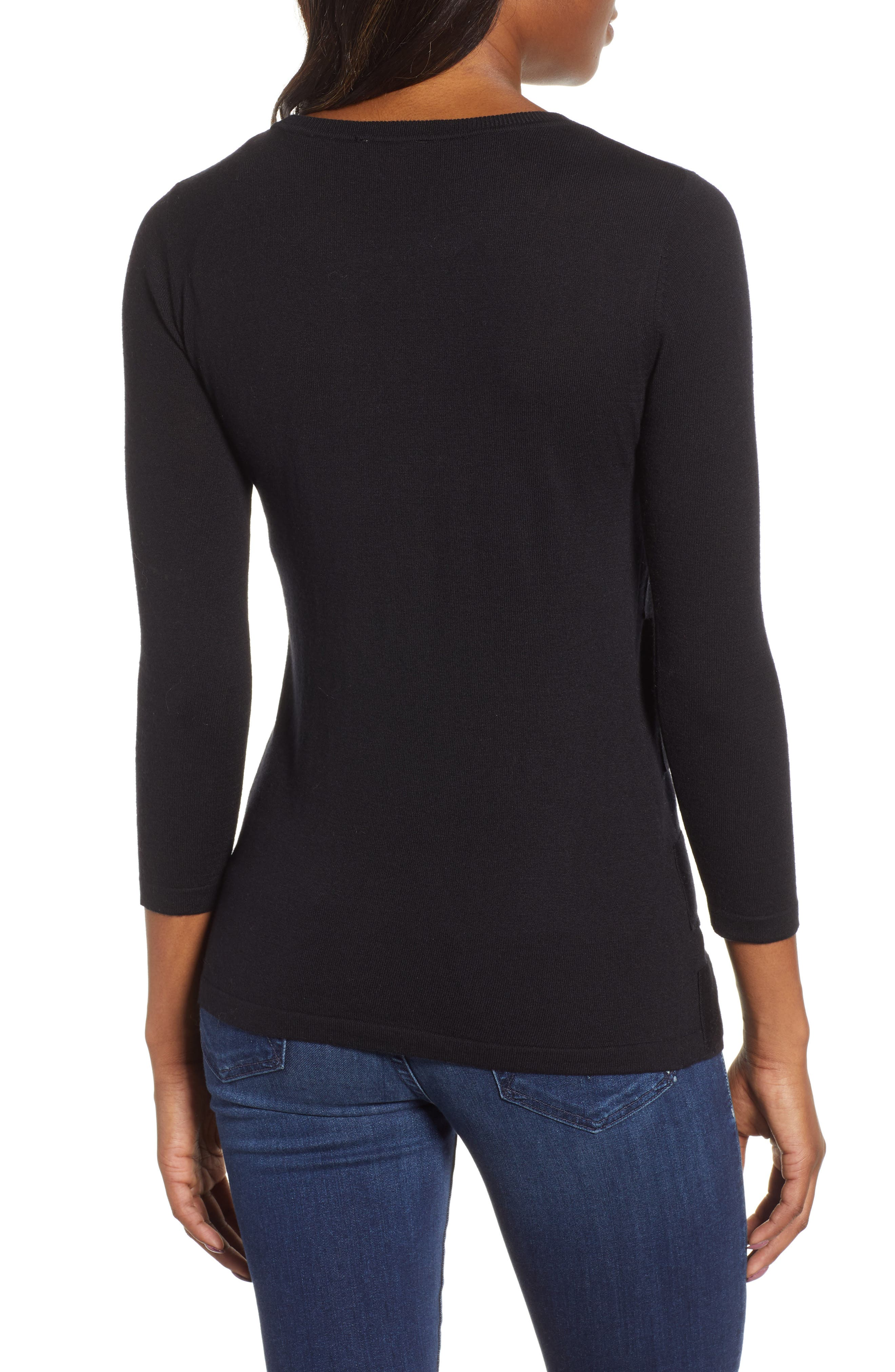 Zigzag Sweater,                             Alternate thumbnail 3, color,                             001