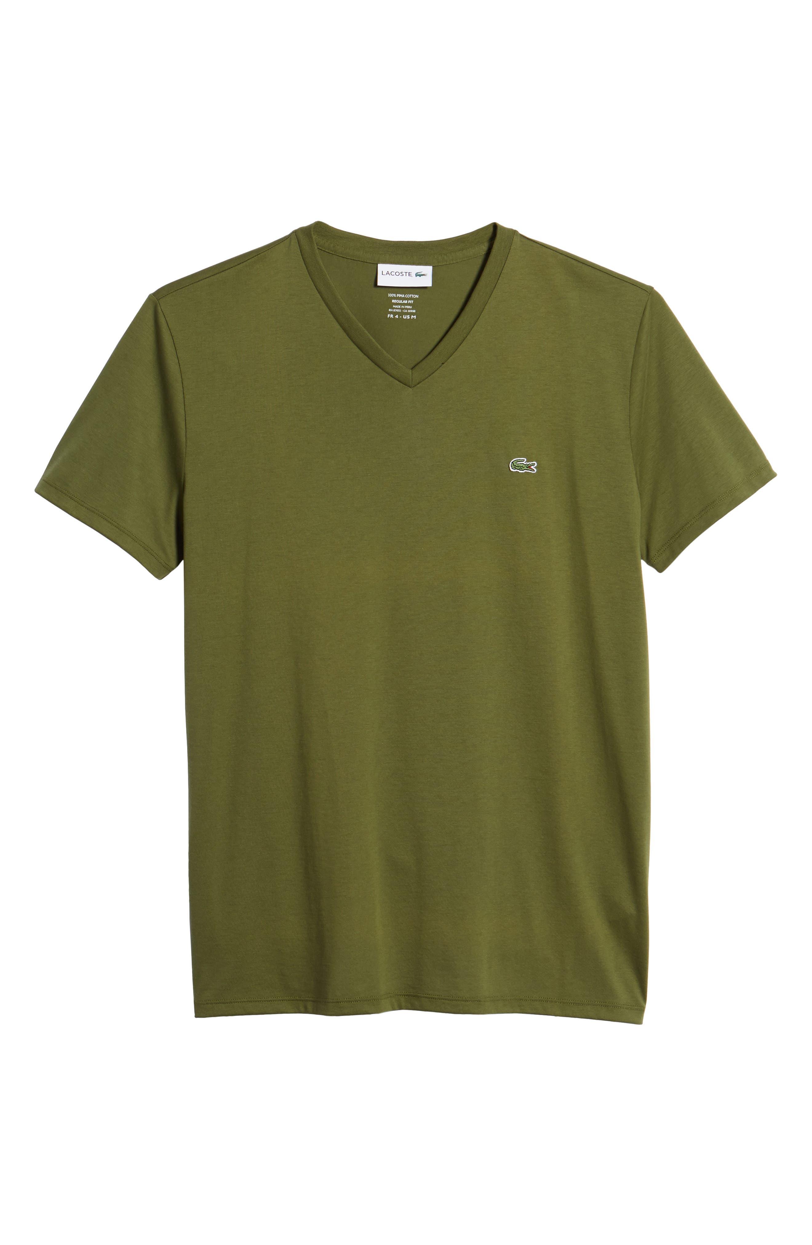 V-Neck Cotton T-Shirt,                             Alternate thumbnail 6, color,                             305