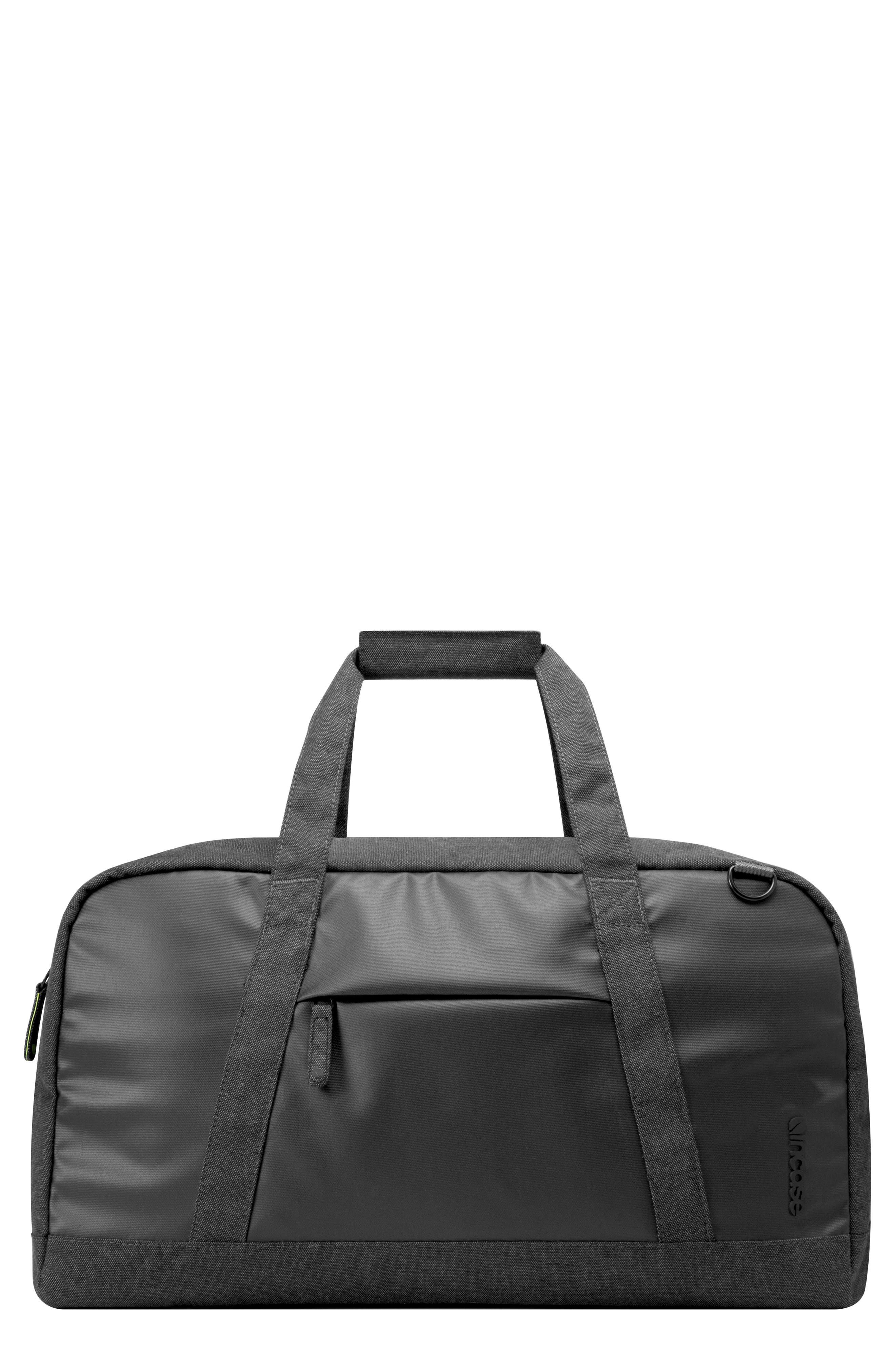 INCASE DESIGNS EO Duffel Bag, Main, color, BLACK