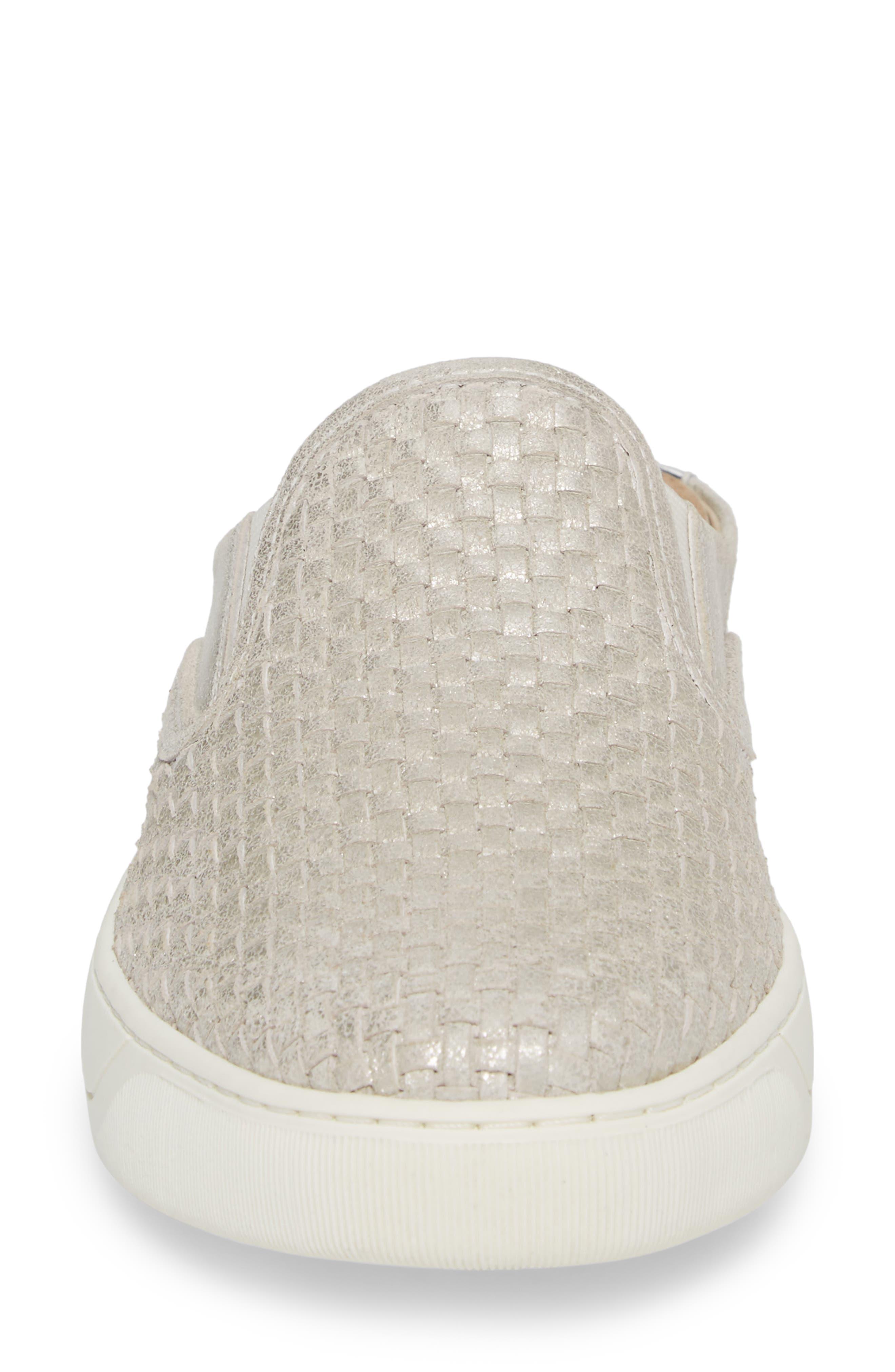 Evie Slip-On Sneaker,                             Alternate thumbnail 4, color,                             ICE LEATHER