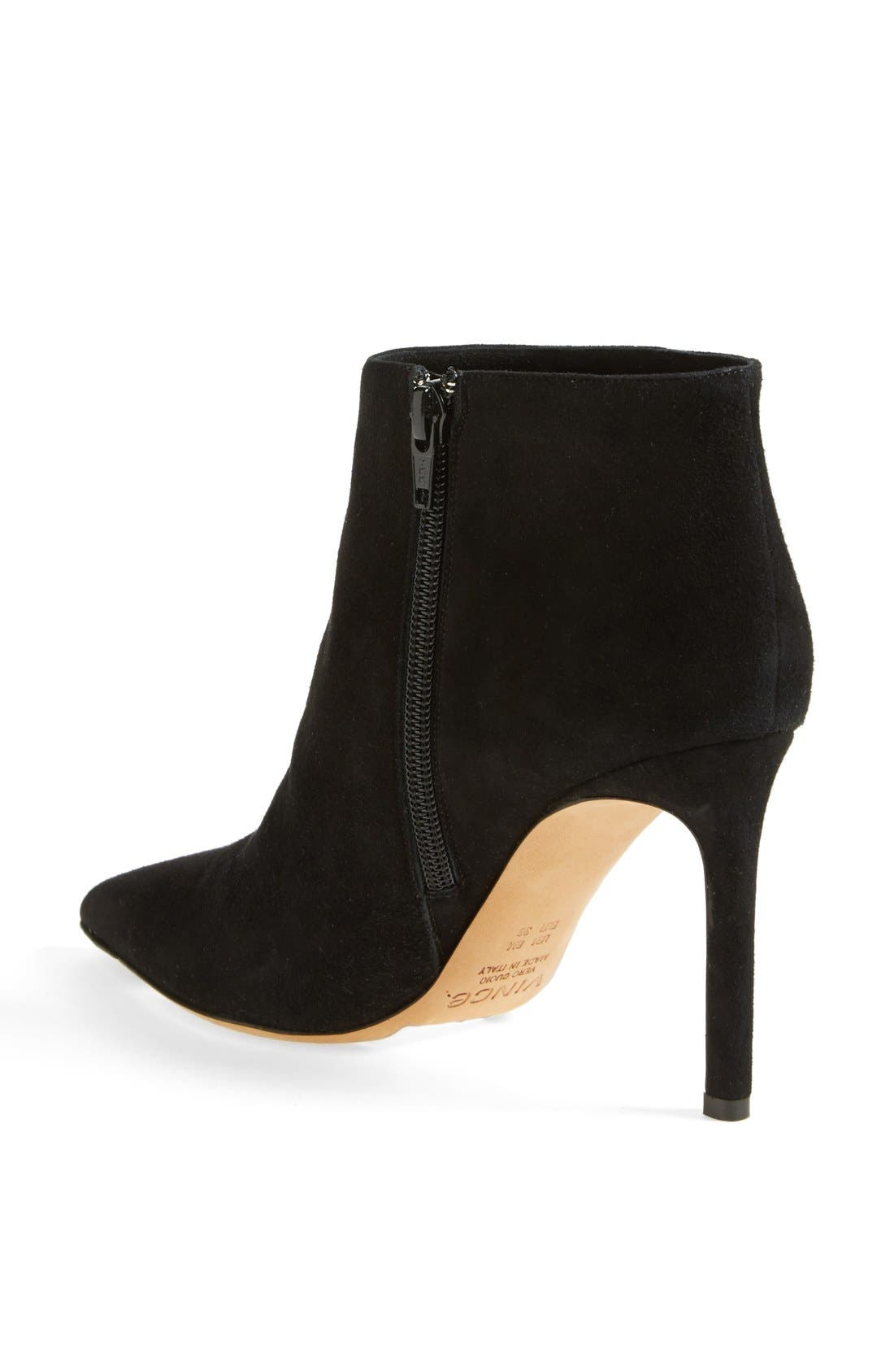 'Chara' Leather Bootie,                             Alternate thumbnail 4, color,                             002