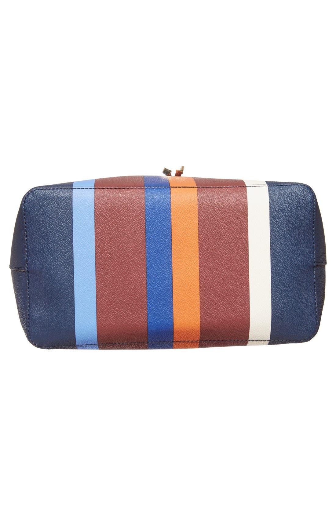 'Kerrington' Stripe Faux Leather Tote,                             Alternate thumbnail 2, color,                             466
