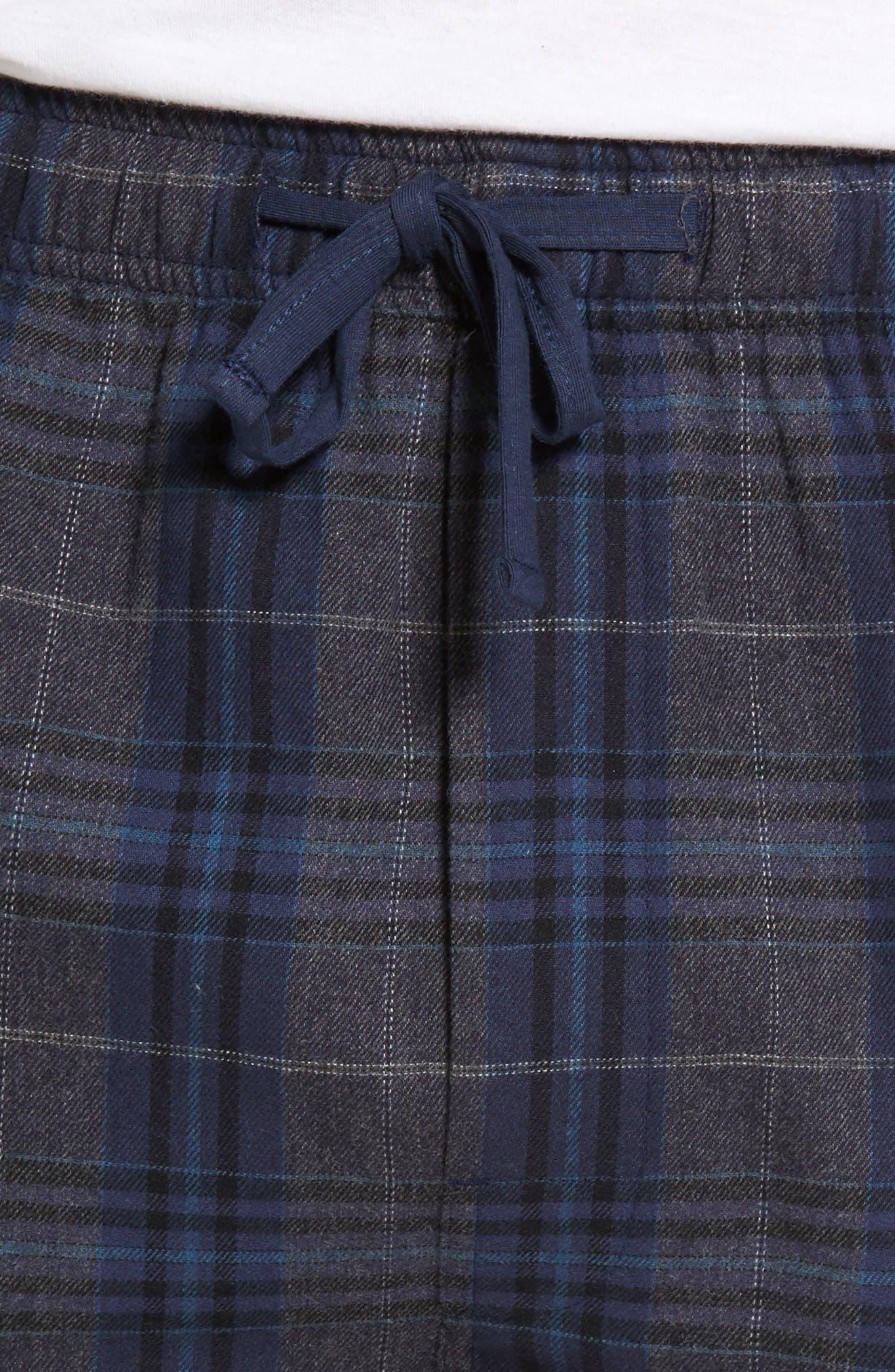Bryson Plaid Flannel Lounge Pants,                             Alternate thumbnail 4, color,                             030
