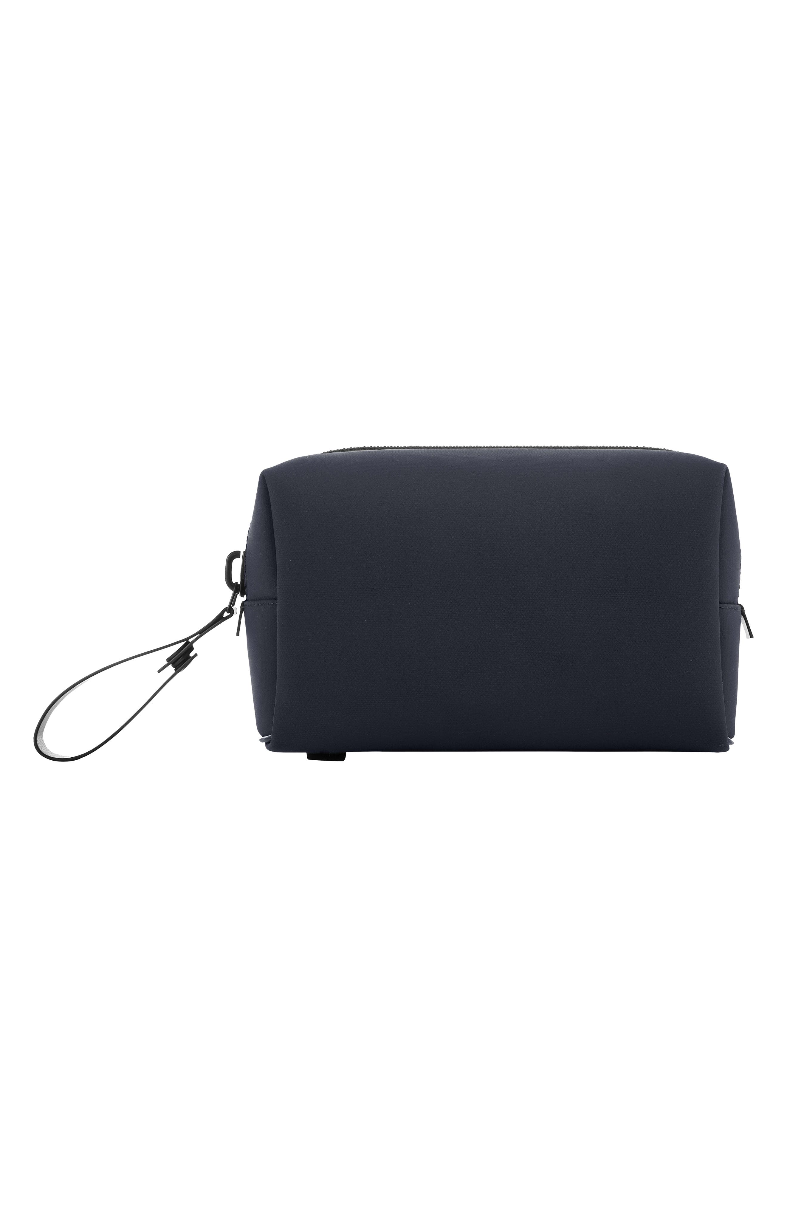 Nylon Dopp Kit,                             Alternate thumbnail 7, color,                             BLACK NYLON/ BLACK LEATHER