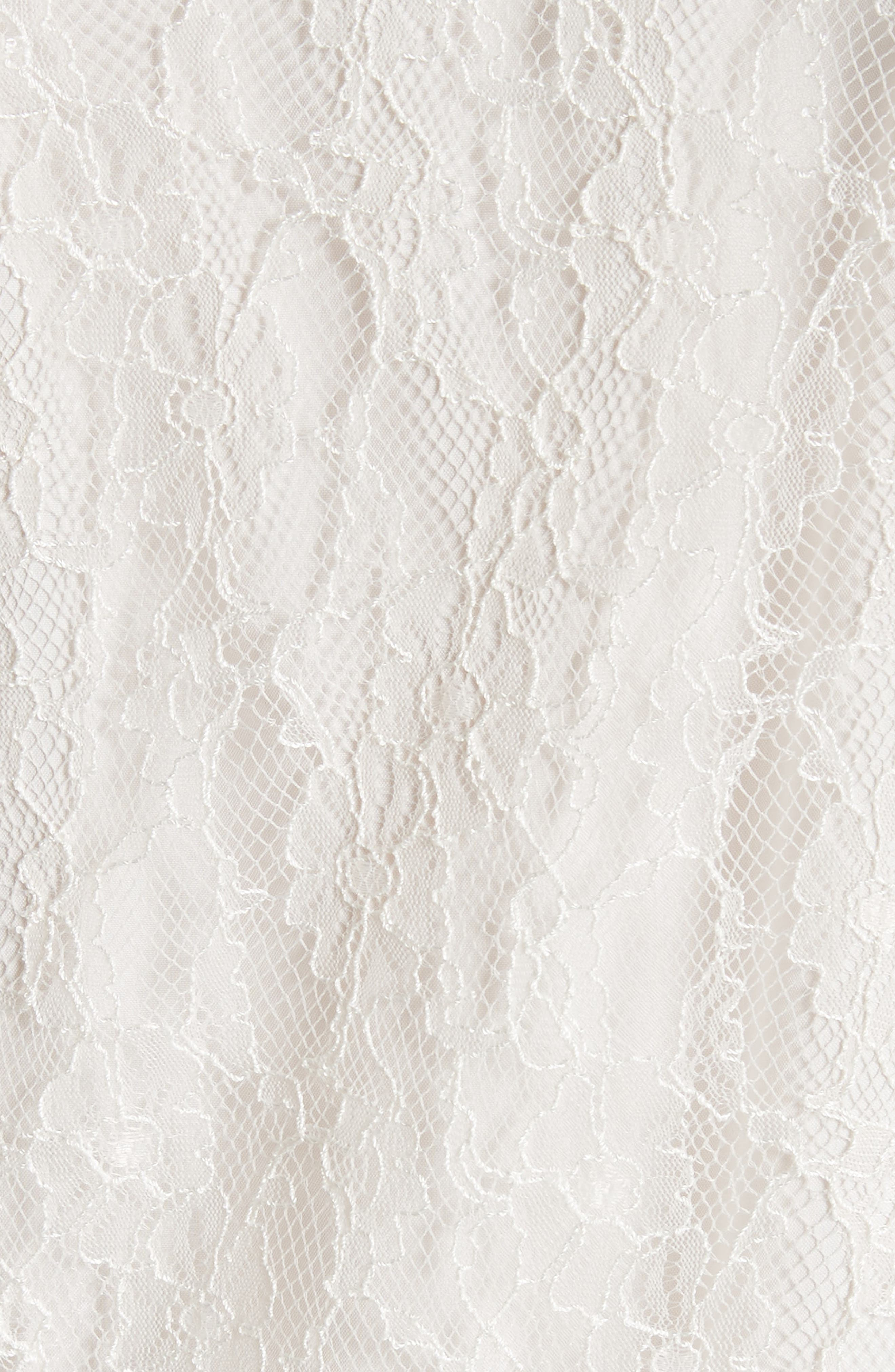 Lace Dress,                             Alternate thumbnail 5, color,                             WHITE