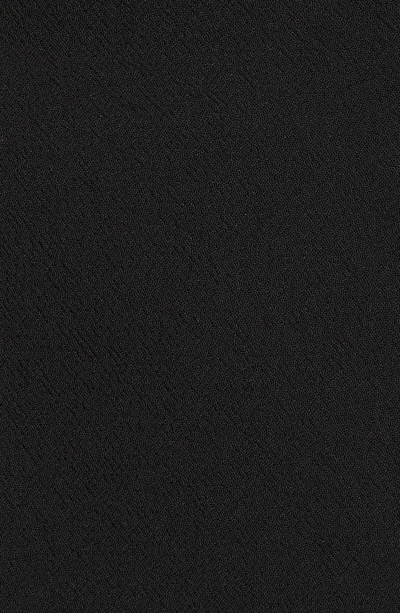 Crepe Blazer,                             Alternate thumbnail 7, color,                             RICH BLACK