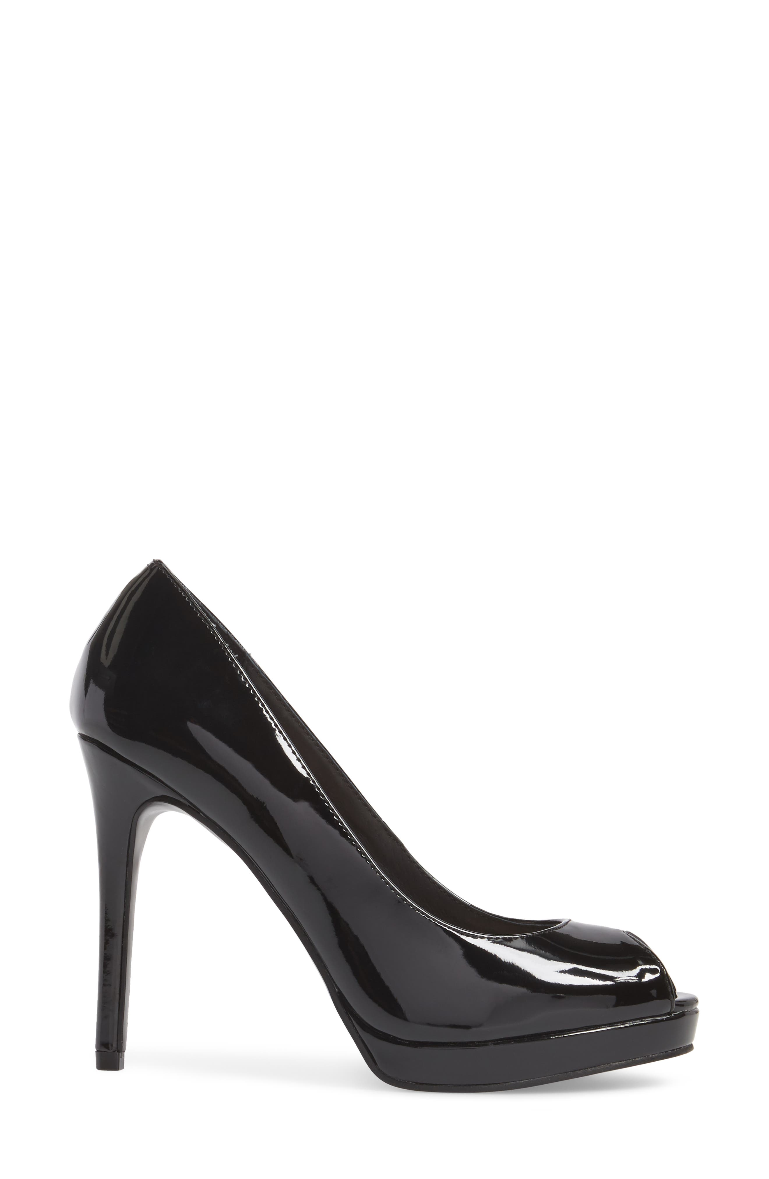 Fia Peep Toe Pump,                             Alternate thumbnail 3, color,                             001